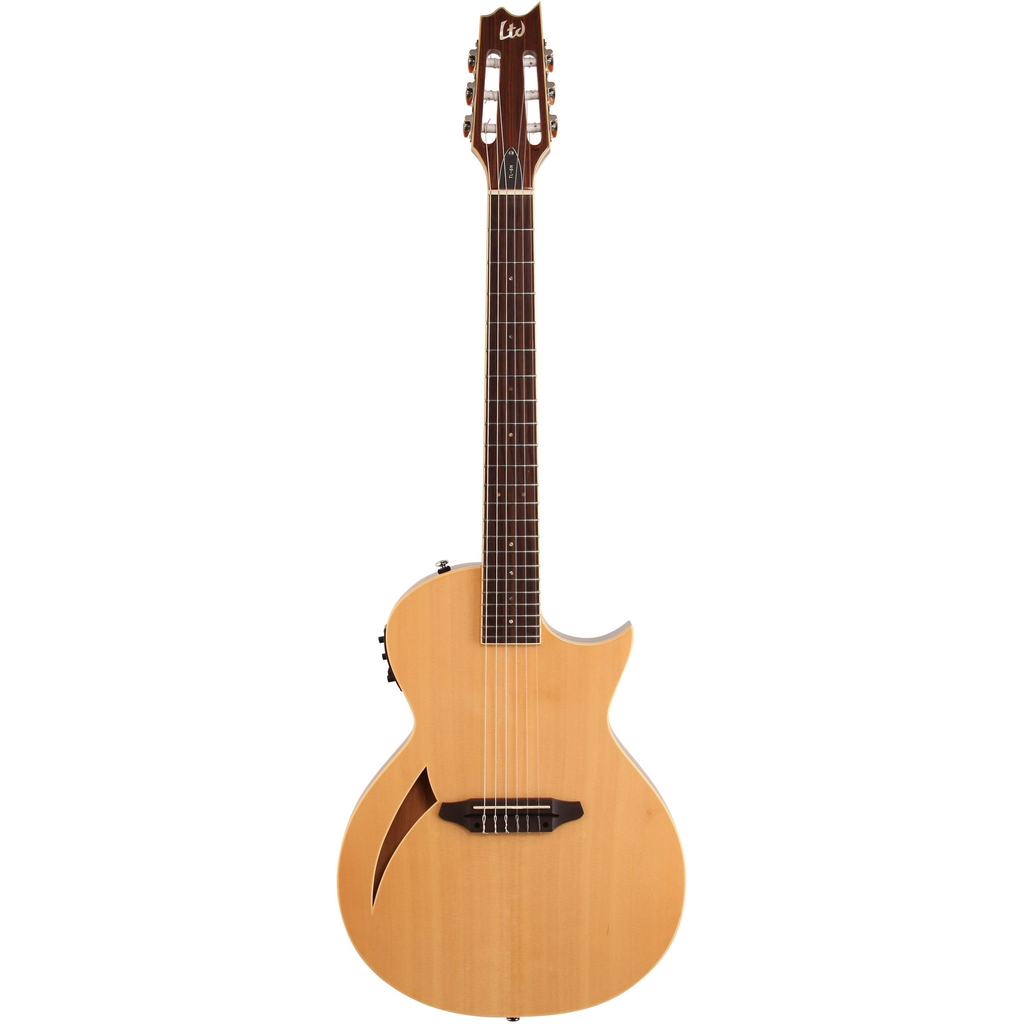 ESP LTD TL-6N Thinline-6 Nylon Classical Acoustic-Electric Guitar, Natural