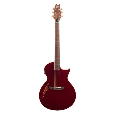 ESP LTD TL-6 Thinline 6 Acoustic-Electric Guitar, Wine Red