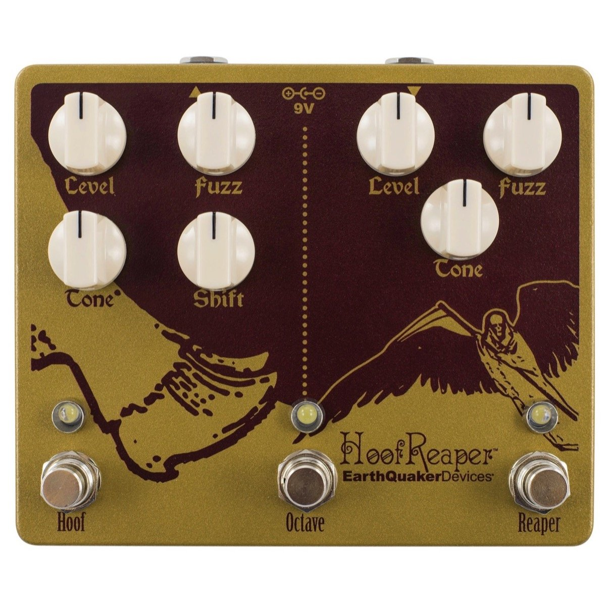 EarthQuaker Devices Hoof Reaper V2 Dual Fuzz Pedal