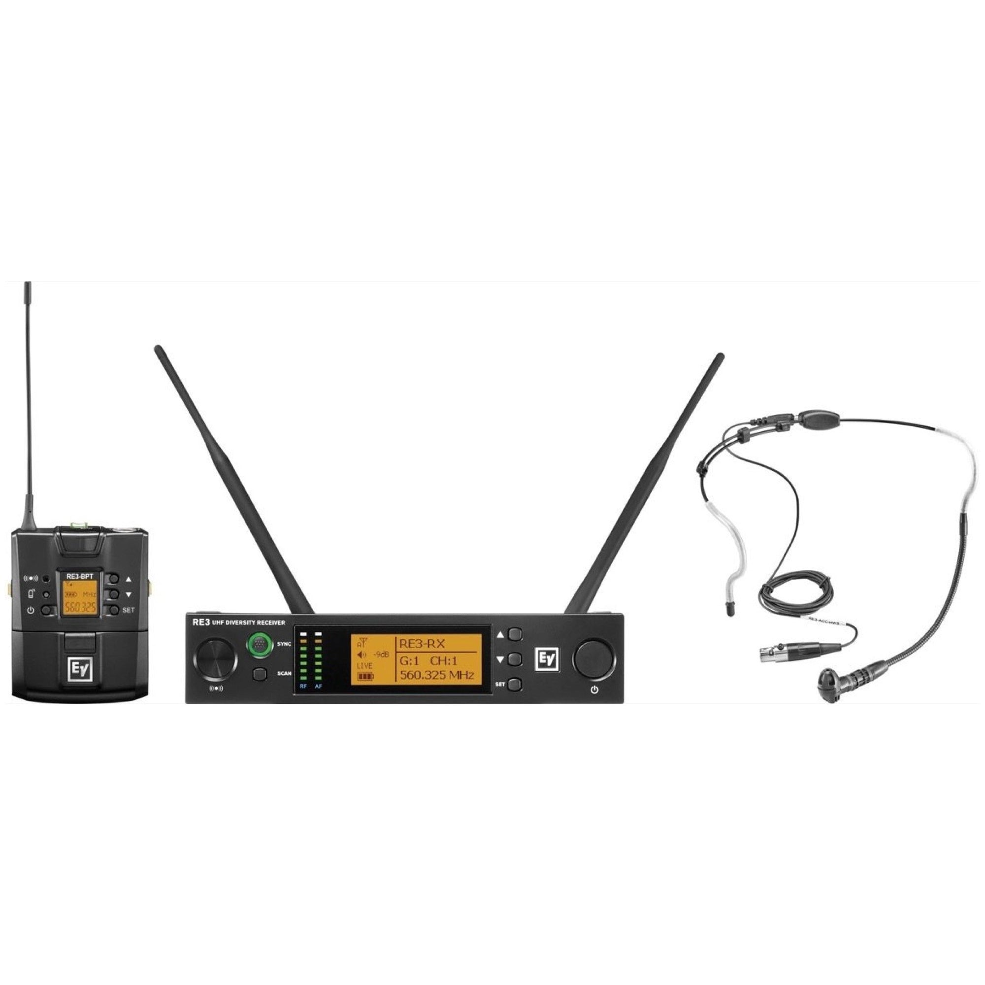 Electro-Voice RE3-BPHW Headset Wireless Microphone System, Band 5L (488-524 MHz)