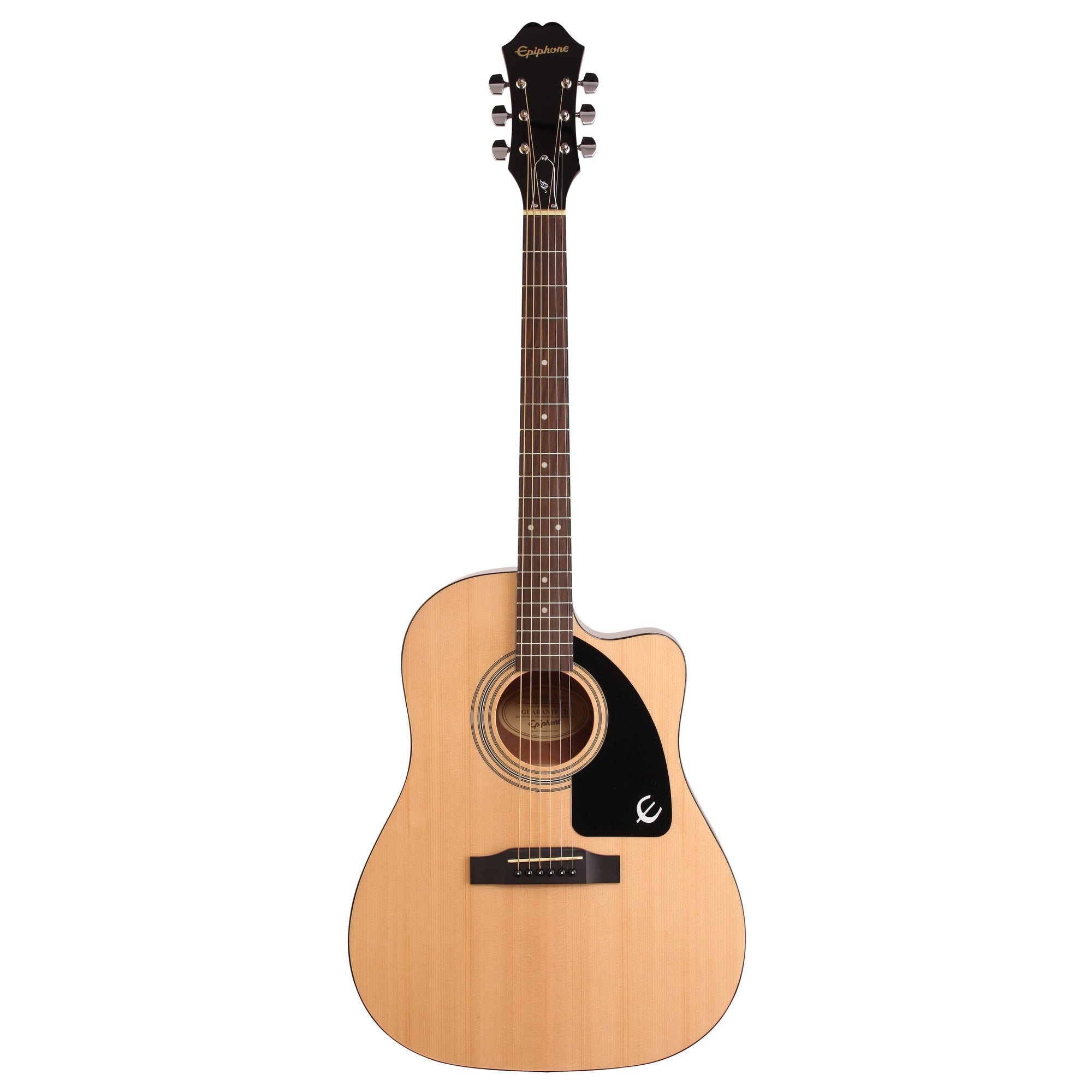 Epiphone AJ-100CE Jumbo Cutaway Acoustic-Electric Guitar, Natural