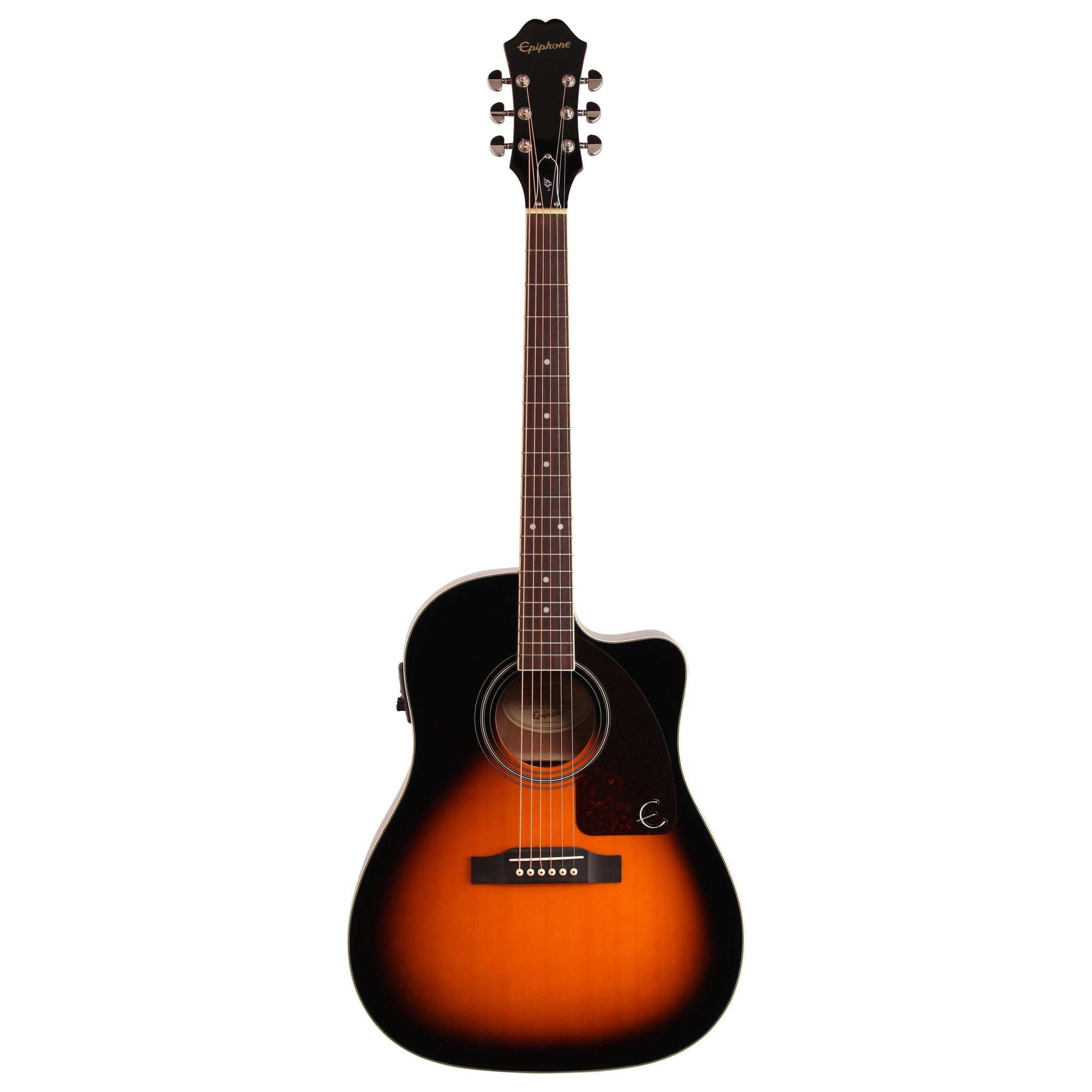Epiphone AJ-220SCE Acoustic-Electric Guitar, Vintage Sunburst