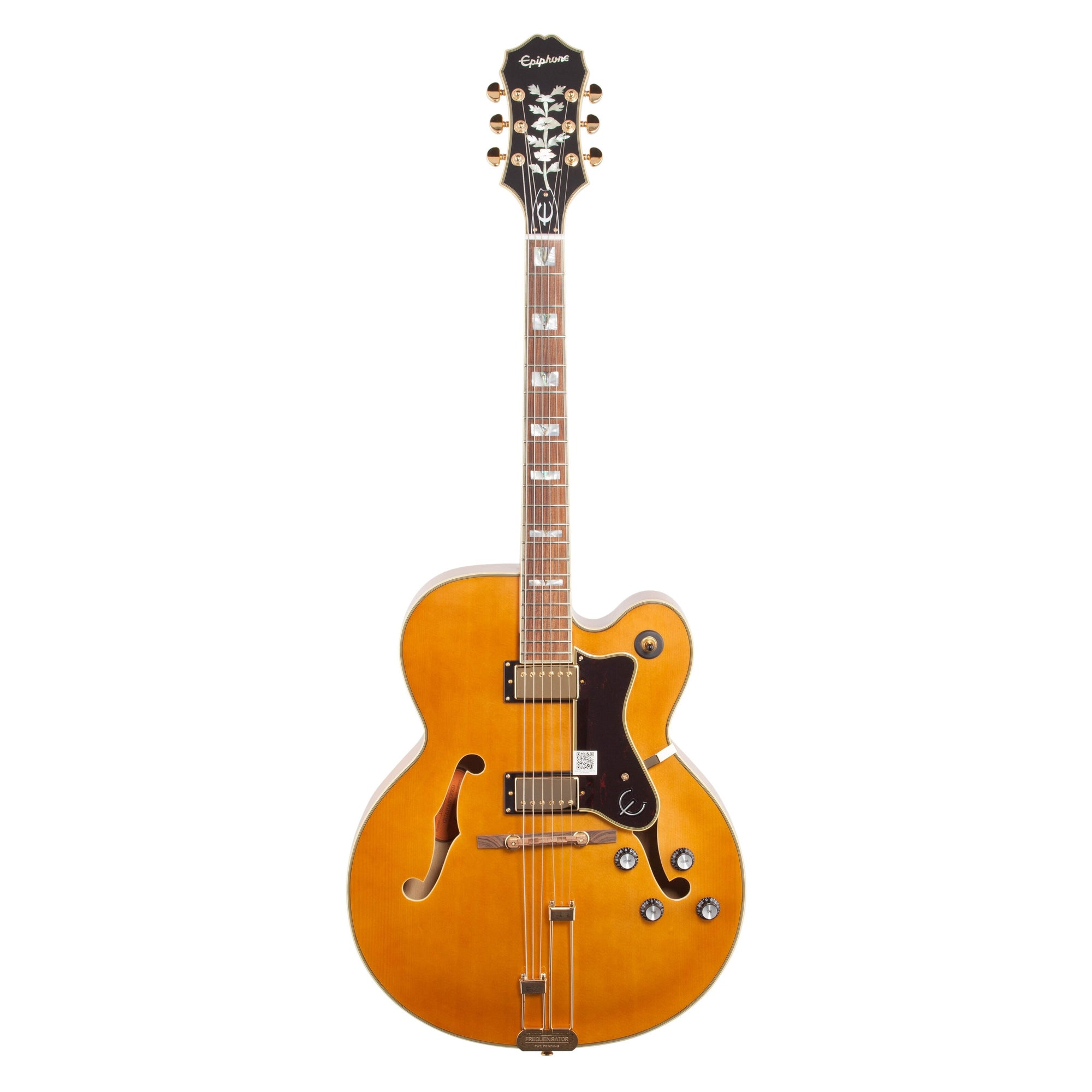 Epiphone Broadway Hollowbody Electric Guitar, Vintage Natural