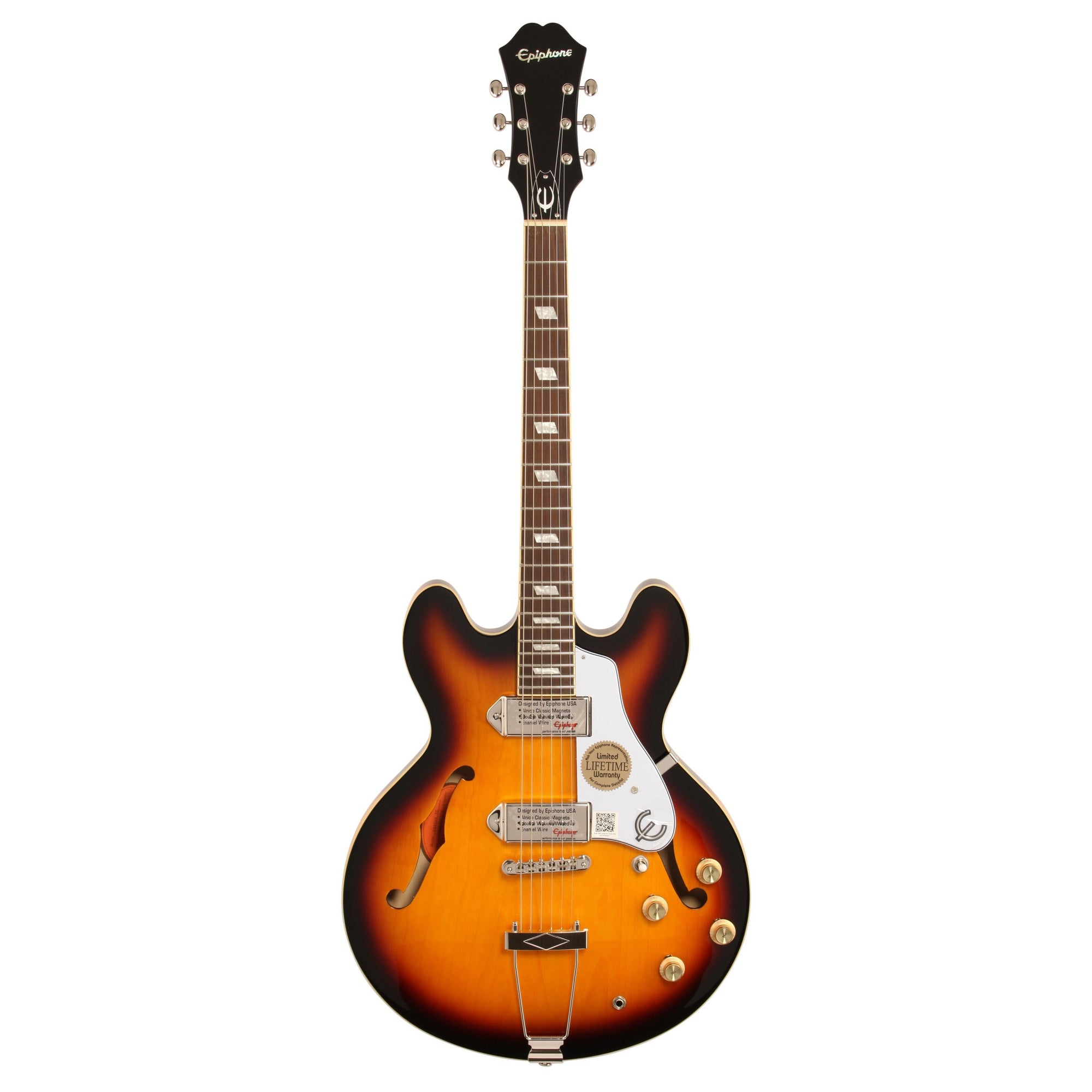 Epiphone Casino Archtop Electric Guitar, Vintage Sunburst