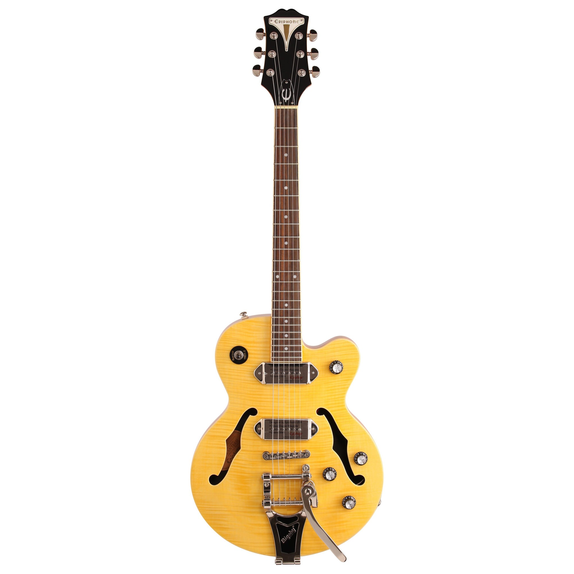 Epiphone Wildkat Electric Guitar with Bigsby Tremolo, Antique Natural