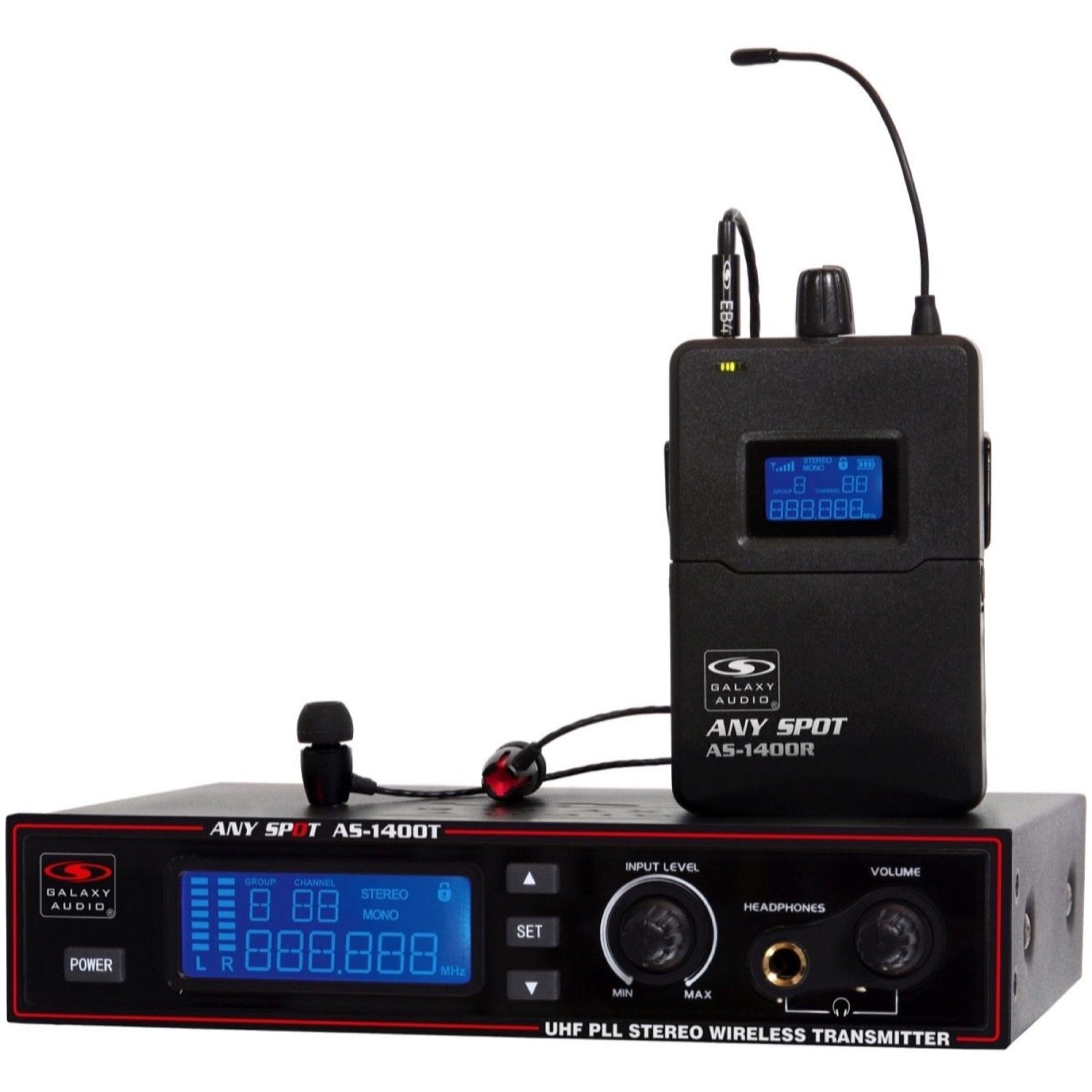 Galaxy AS-1400 Wireless In-Ear Monitor System, Band M (516 - 558 MHz)