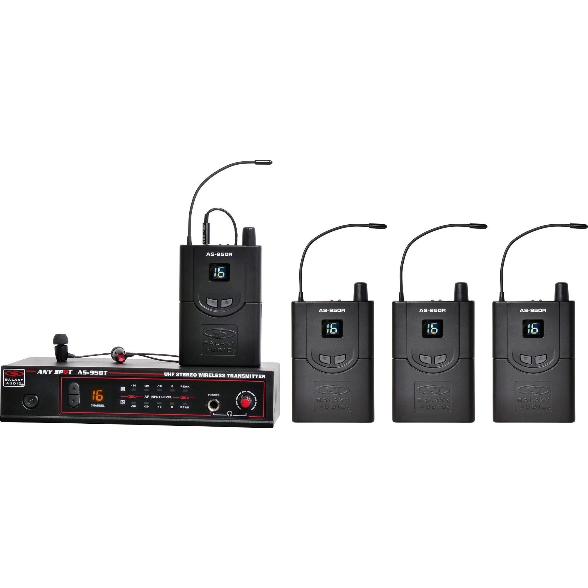 Galaxy Audio AS-950-4 Wireless In-Ear Monitor Band Pack, Band P2 (470-494 MHz)