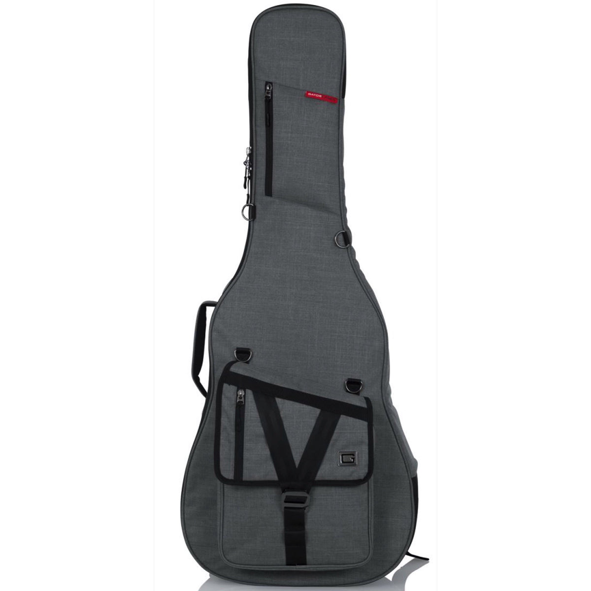Gator Transit Series Acoustic Guitar Gig Bag, Light Grey