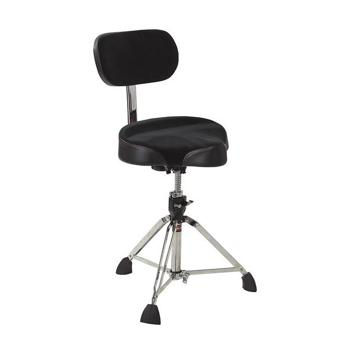 Gibraltar 9608MB Motorcycle-Top Double-Braced Drum Throne, with Back Rest