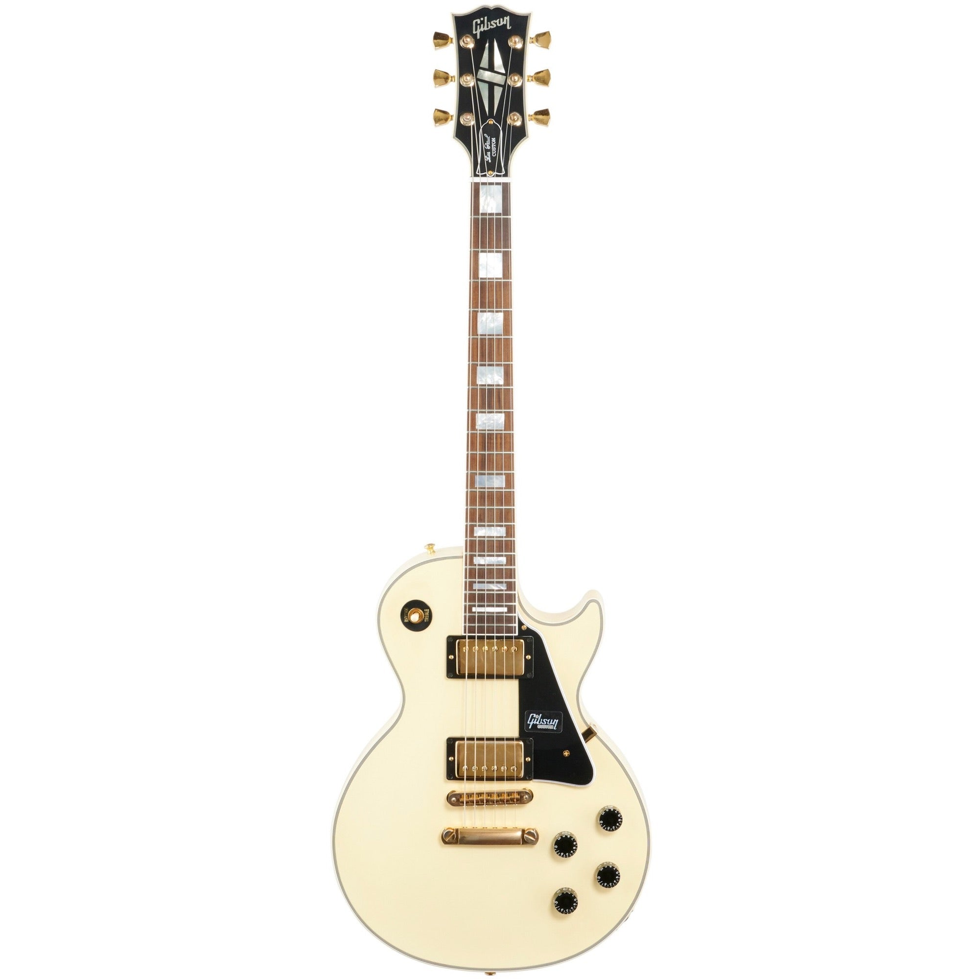 Gibson Exclusive Les Paul Custom VOS Electric Guitar, Bolivian Rosewood Fingerboard (with Case), Classic White