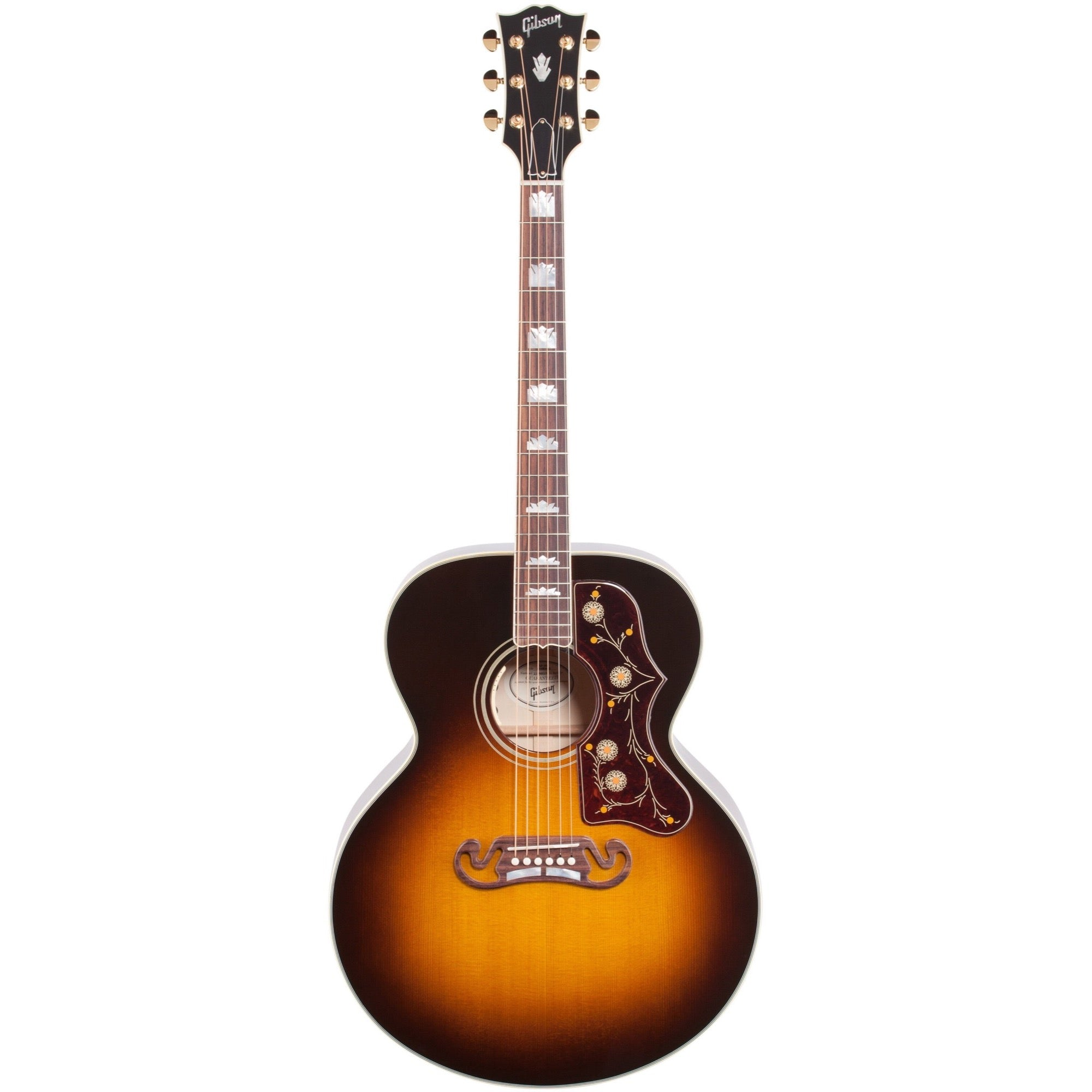 Gibson J-200 Standard Jumbo Acoustic-Electric Guitar (with Case), Vintage Sunburst