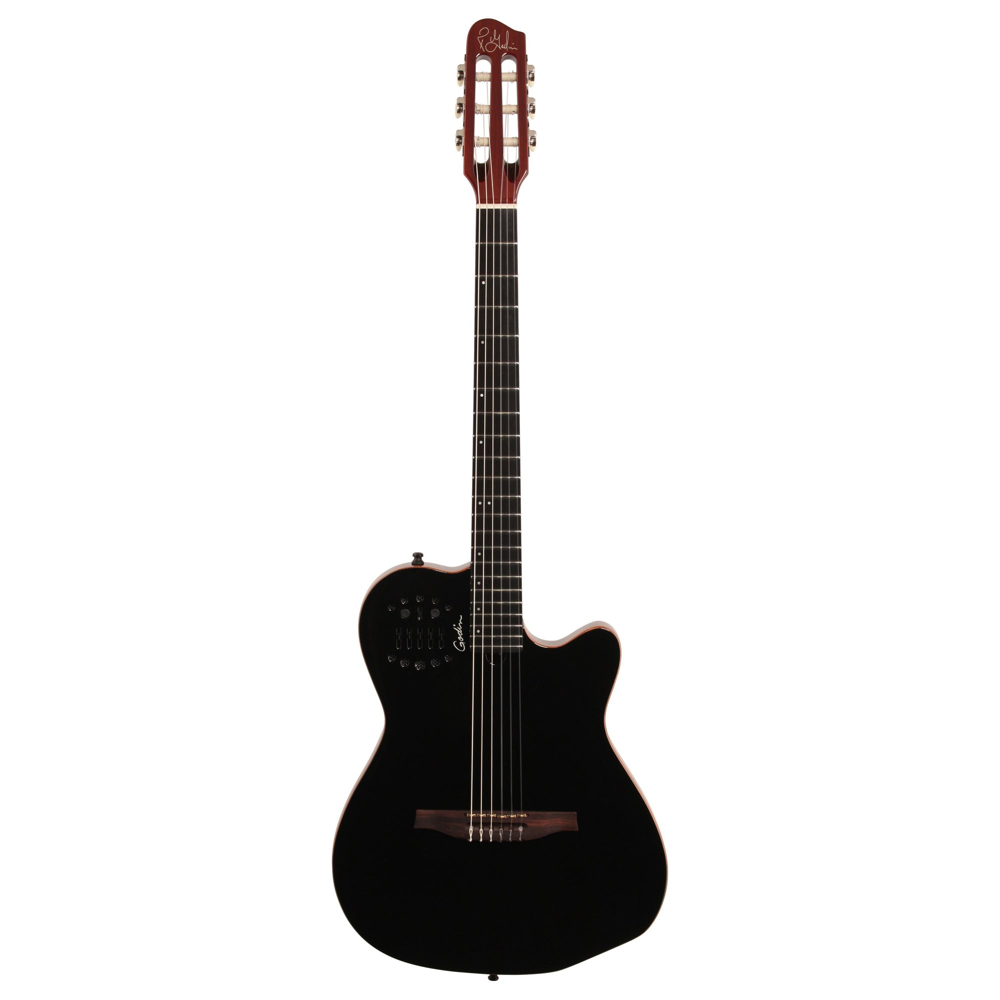 Godin Multiac ACS-SA Slim Nylon Acoustic-Electric Guitar (with Gig Bag), Black