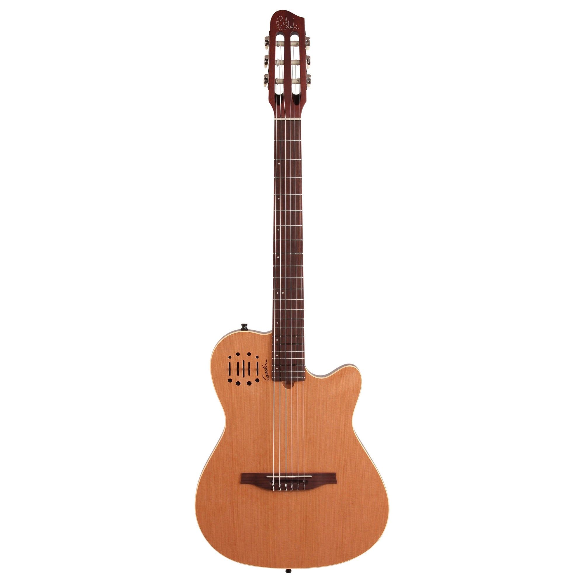 Godin Multiac Nylon Encore Classical Acoustic-Electric Guitar (with Gig Bag), Natural