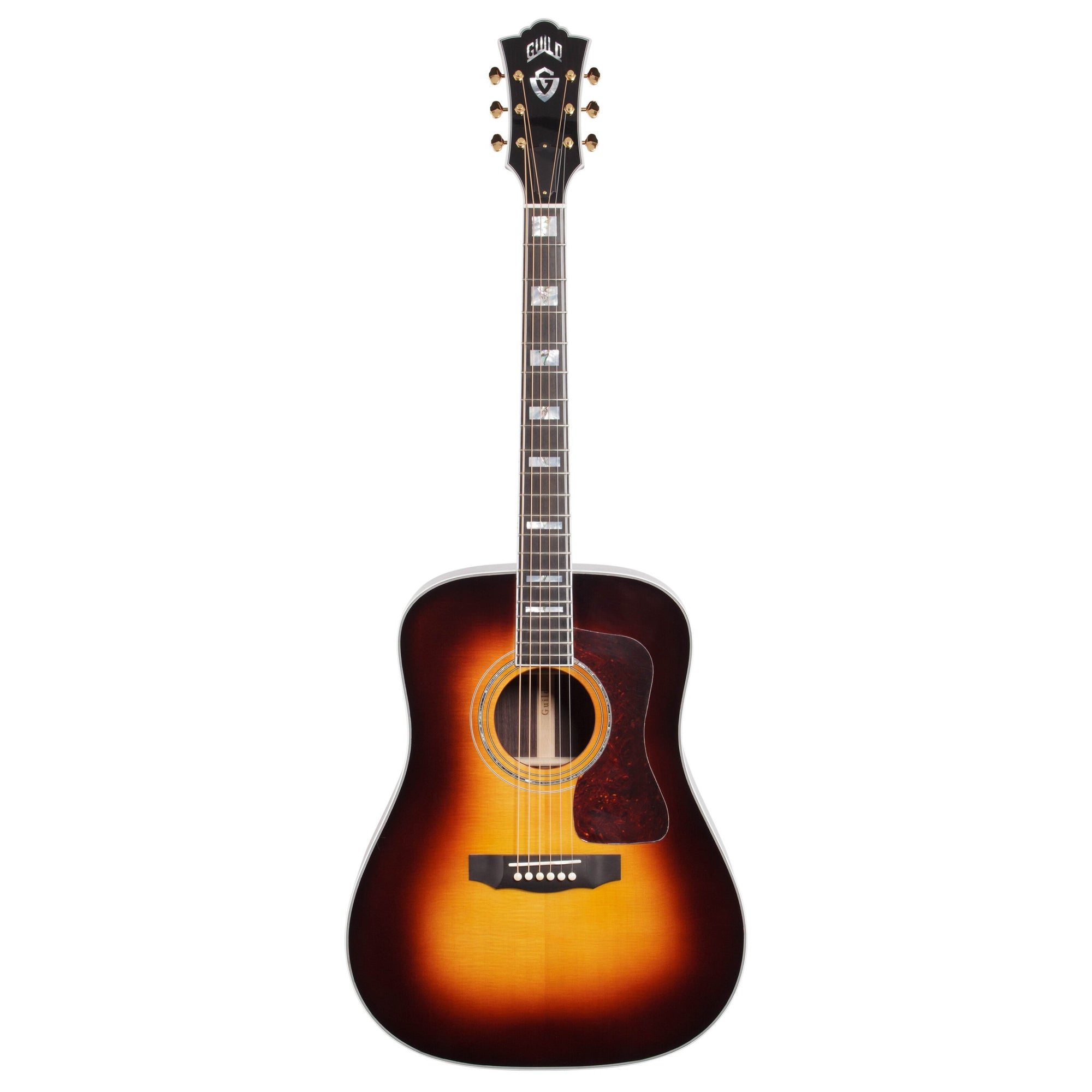Guild D-55 Acoustic Guitar (with Case), Antique Sunburst