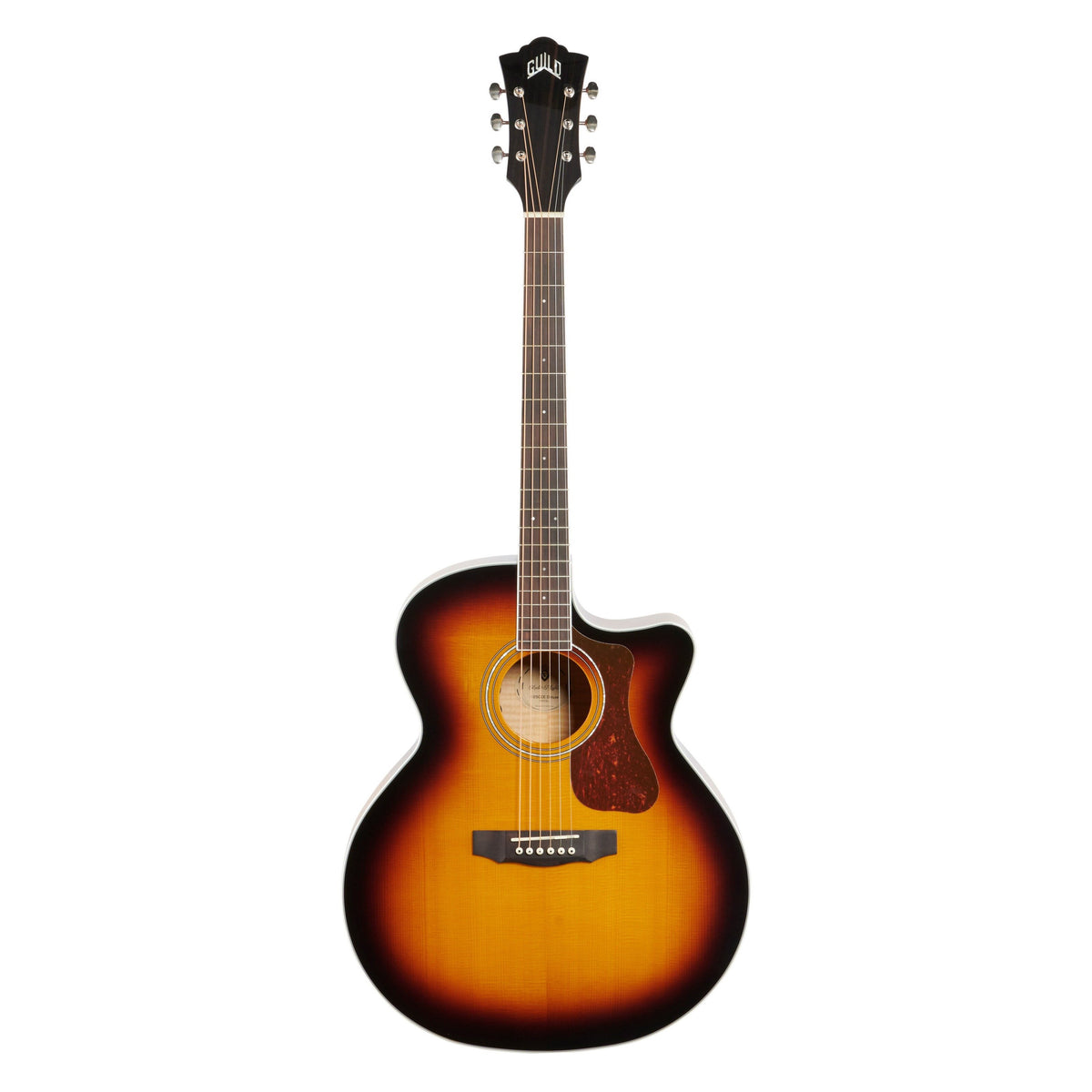 Guild F-250CE Jumbo Cutaway Acoustic-Electric Guitar, Flame Maple