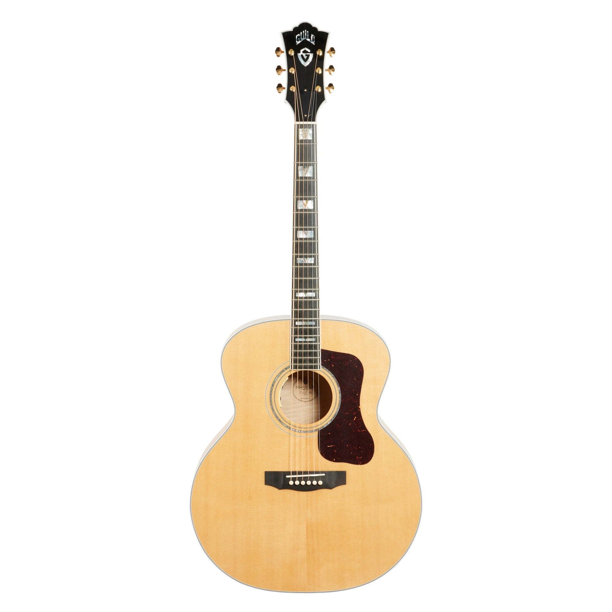 Guild F-55E Jumbo Maple Acoustic-Electric Guitar (with Case)