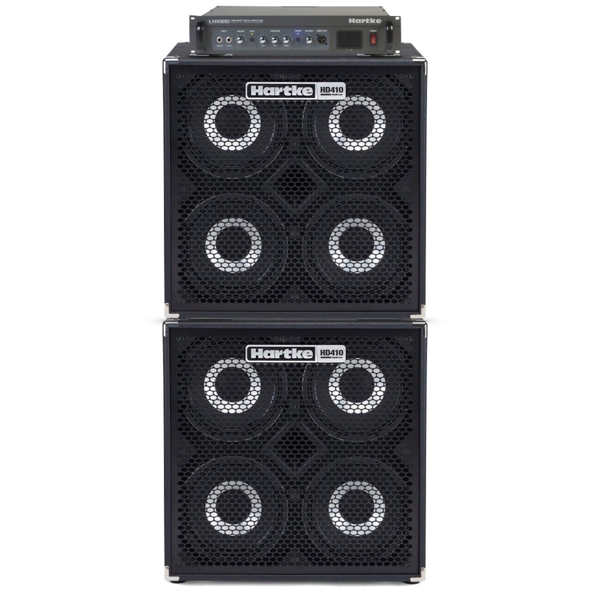 Hartke LH1000 Bass Head with Dual HD410 Bass Cabinet Full Stack Pack