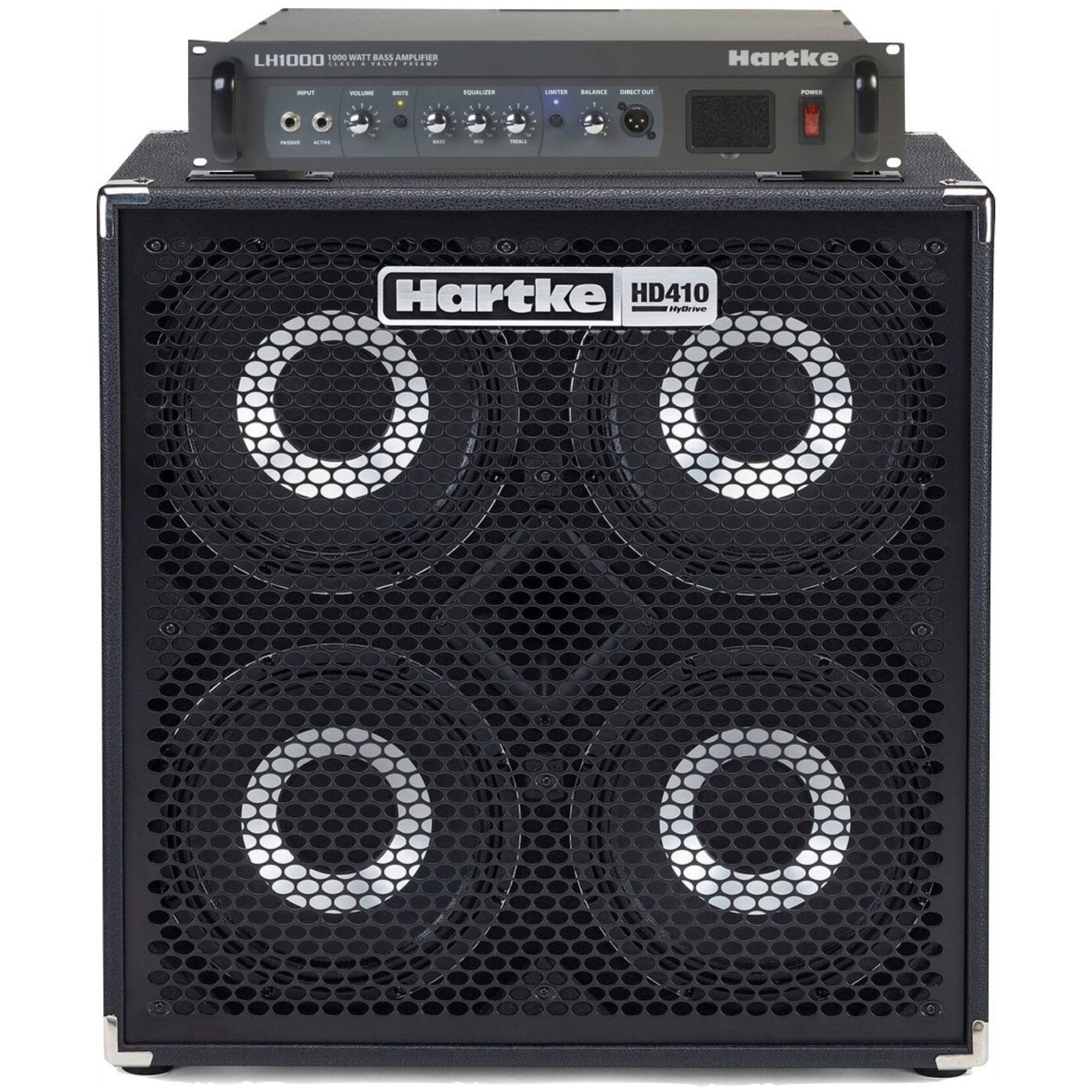Hartke LH1000 Bass Head with HD410 Bass Cabinet Half Stack Pack