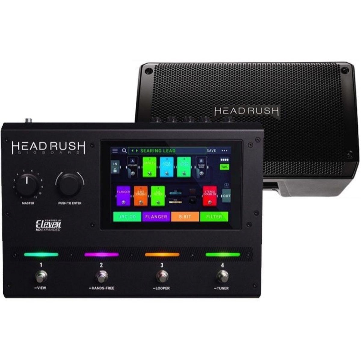 HeadRush Gigboard Guitar Effects Pedal Board, with HeadRush FRFR108 Powered Speaker Cabinet