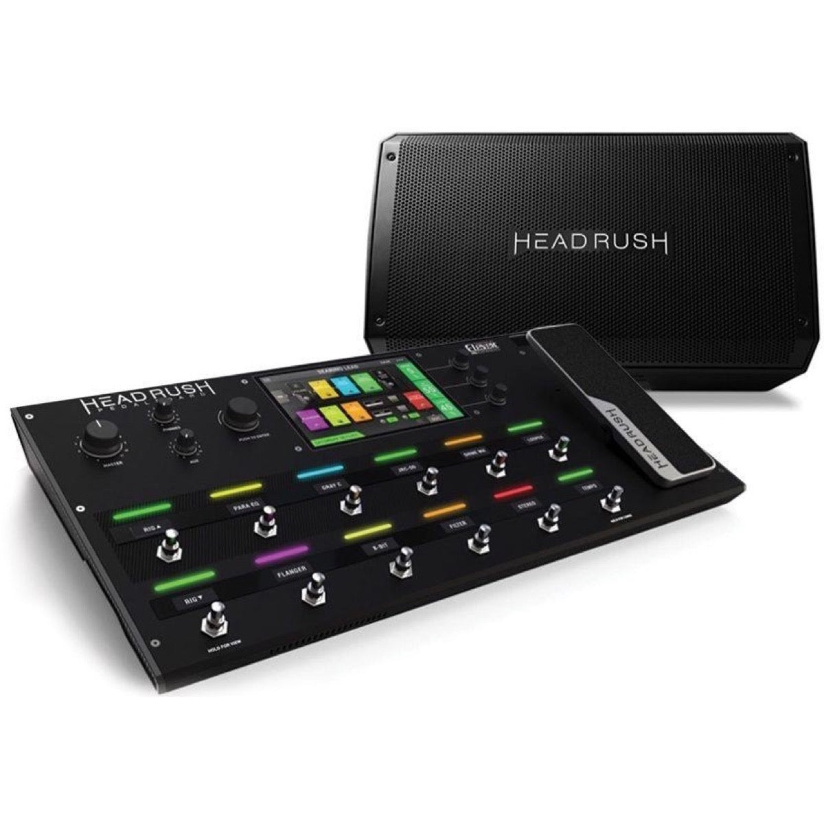 HeadRush Pedalboard Guitar Multi-effects Processor, with HeadRush FRFR-112 Powered Cabinet