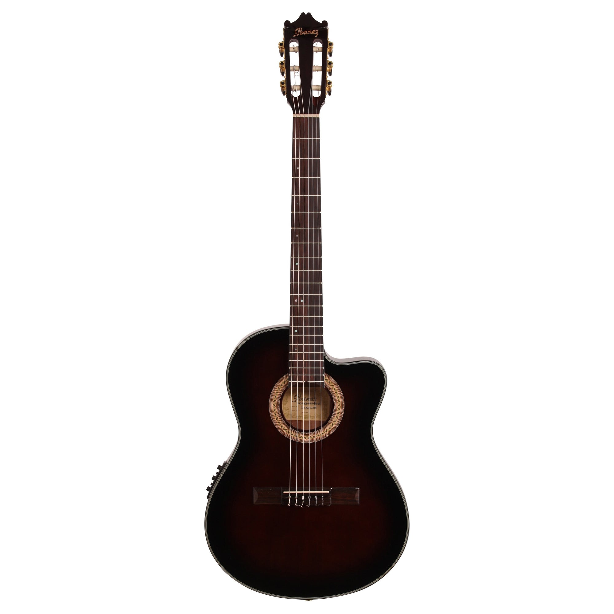 Ibanez GA35TCE Thinline Classical Acoustic-Electric Guitar, Dark Violin Sunburst