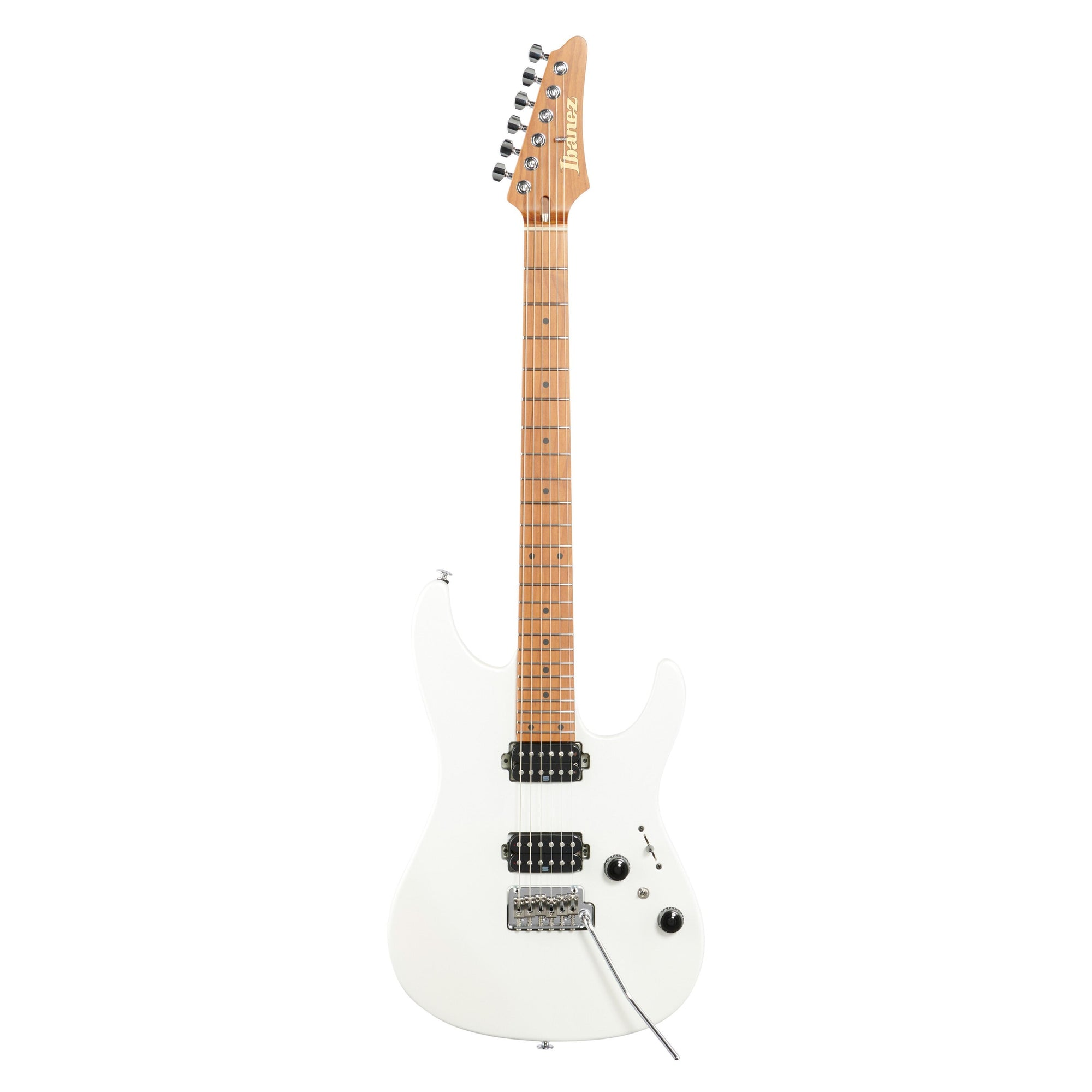 Ibanez Prestige AZ2402 Electric Guitar (with Case), Pearl White Flat