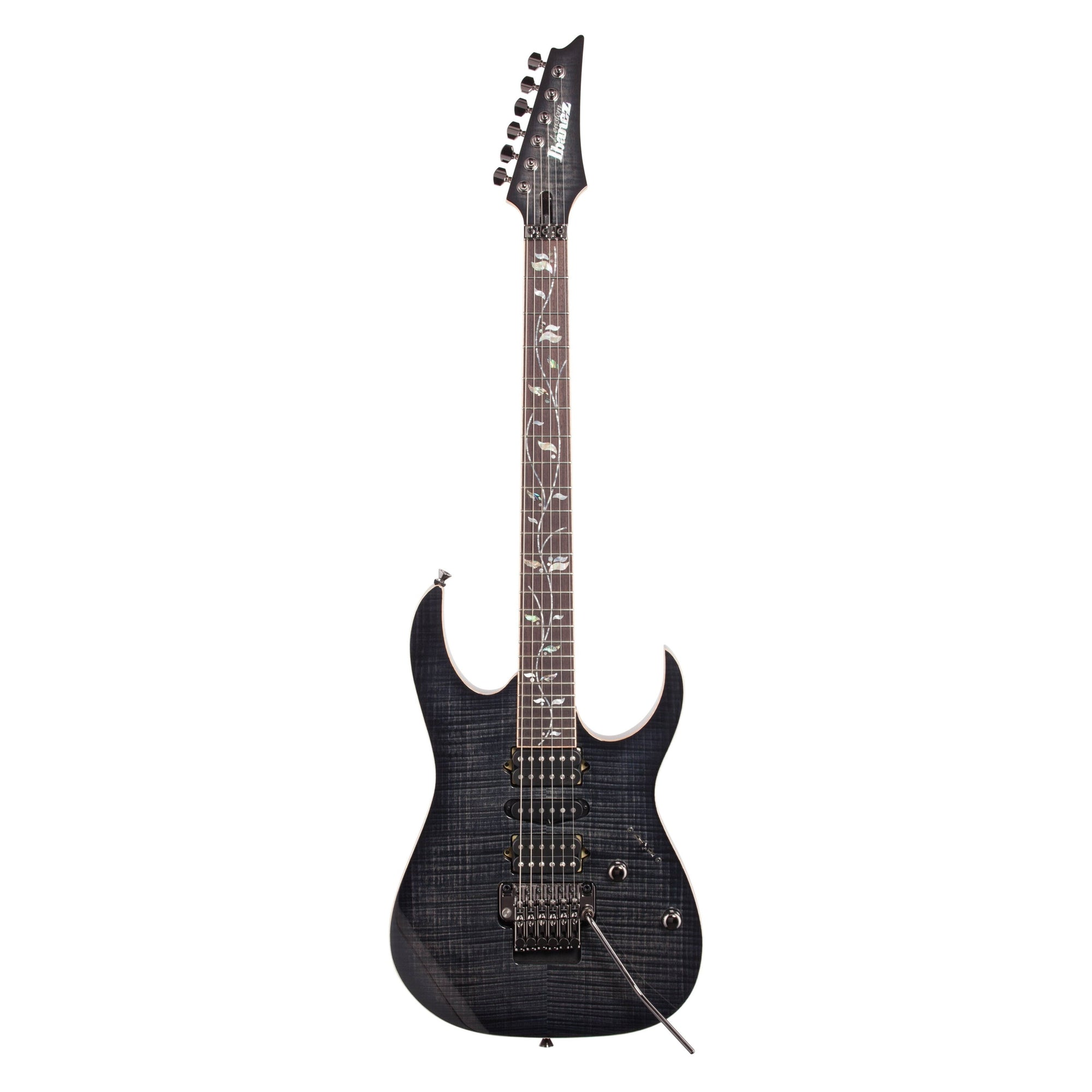 Ibanez RG8570Z J Custom Limited Edition Electric Guitar (with Case), Black Rutile