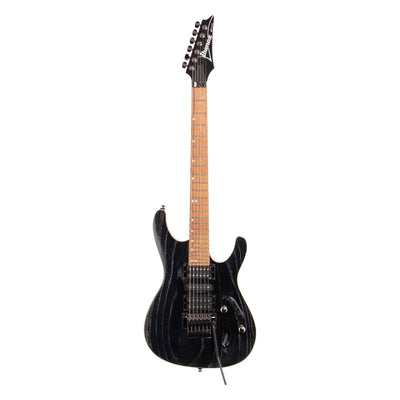 Ibanez S570AH S Series Electric Guitar, Silver Wave Black