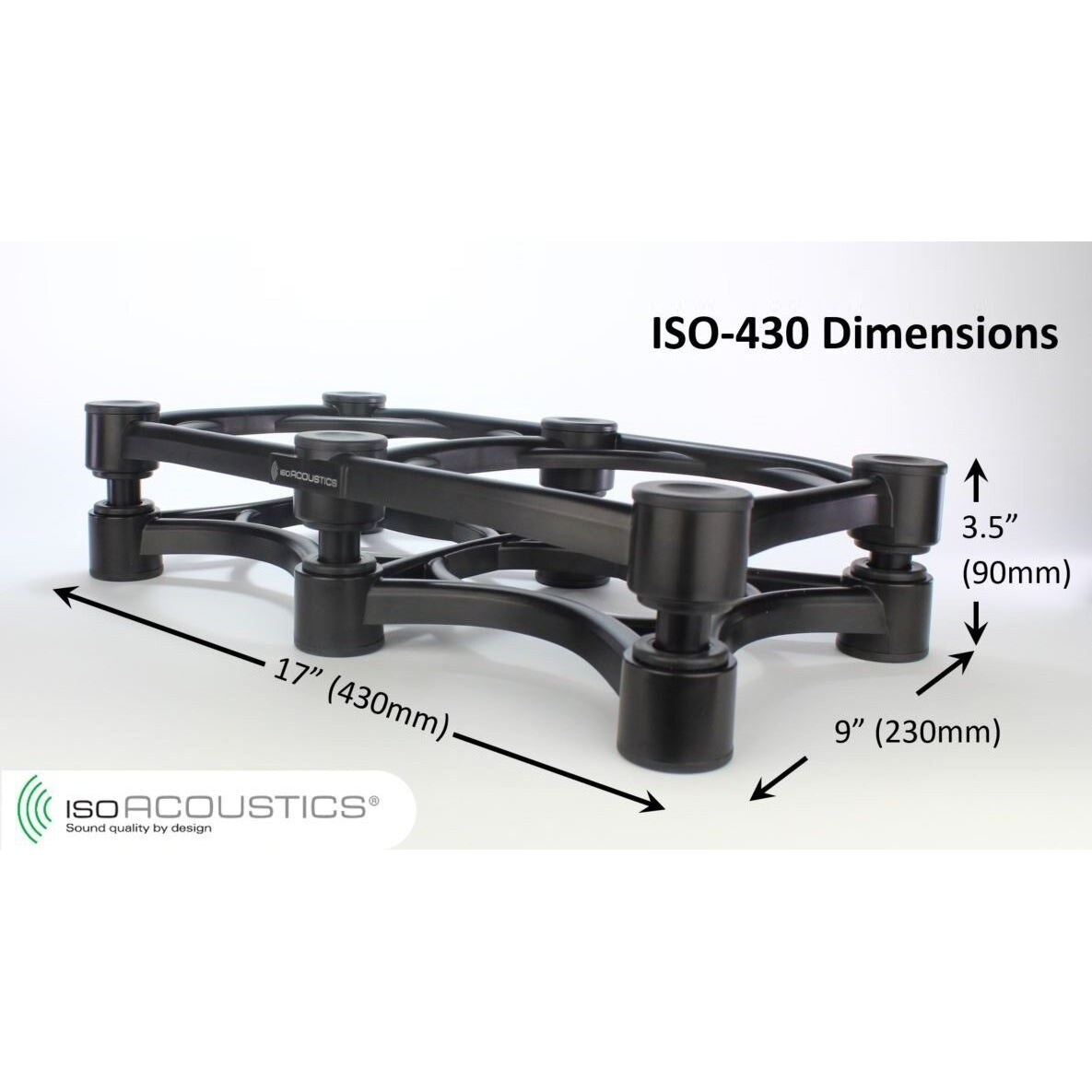 IsoAcoustics ISO-430 Isolation Stand for Guitar Amplifiers