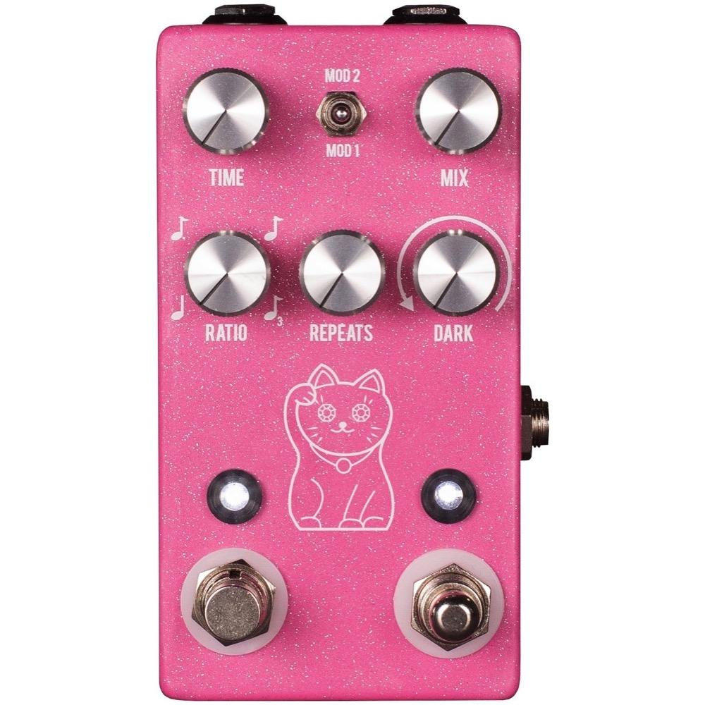 JHS Lucky Cat Delay Pedal, Pink