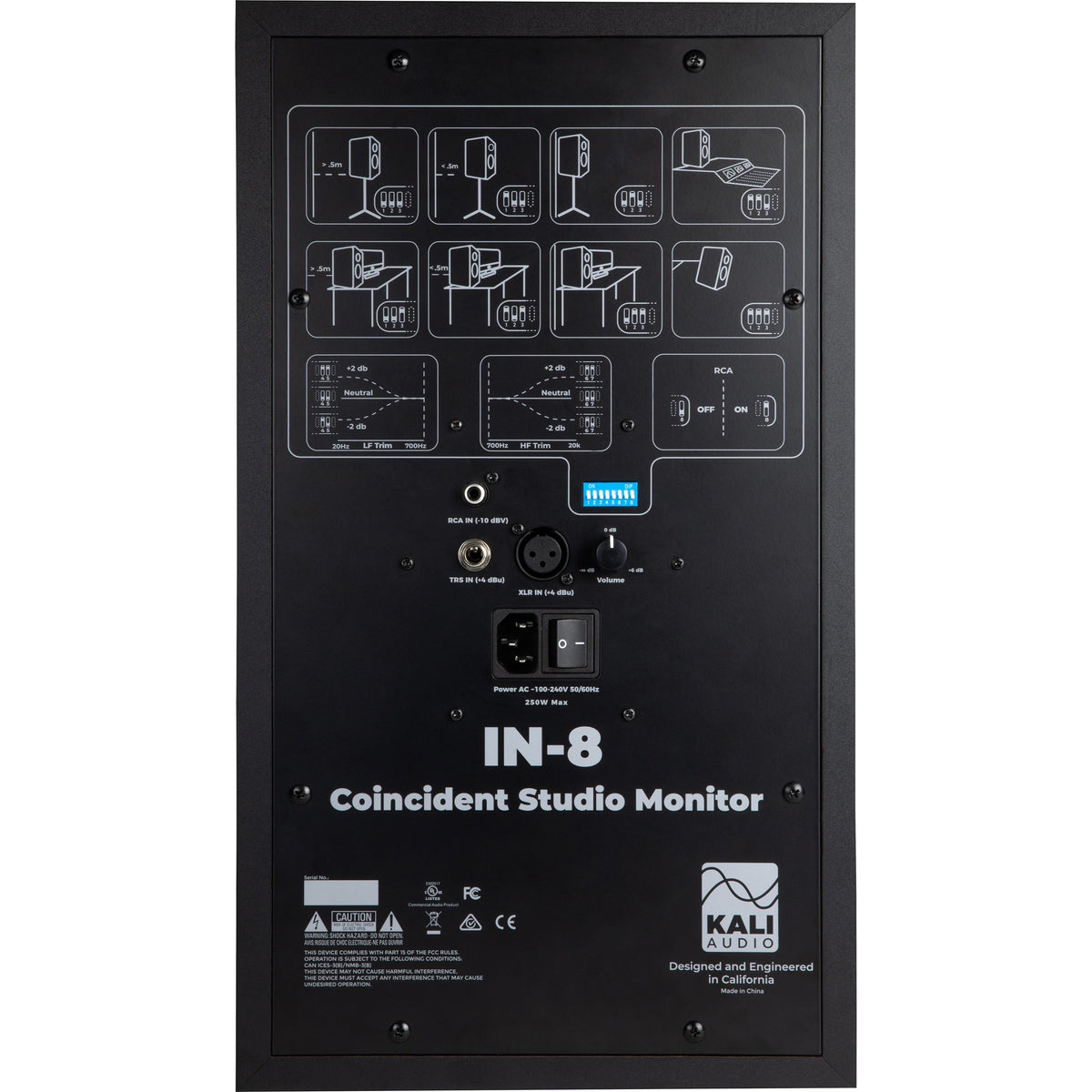 Kali Audio IN-8 3-Way Powered Studio Monitor, 8 Inch