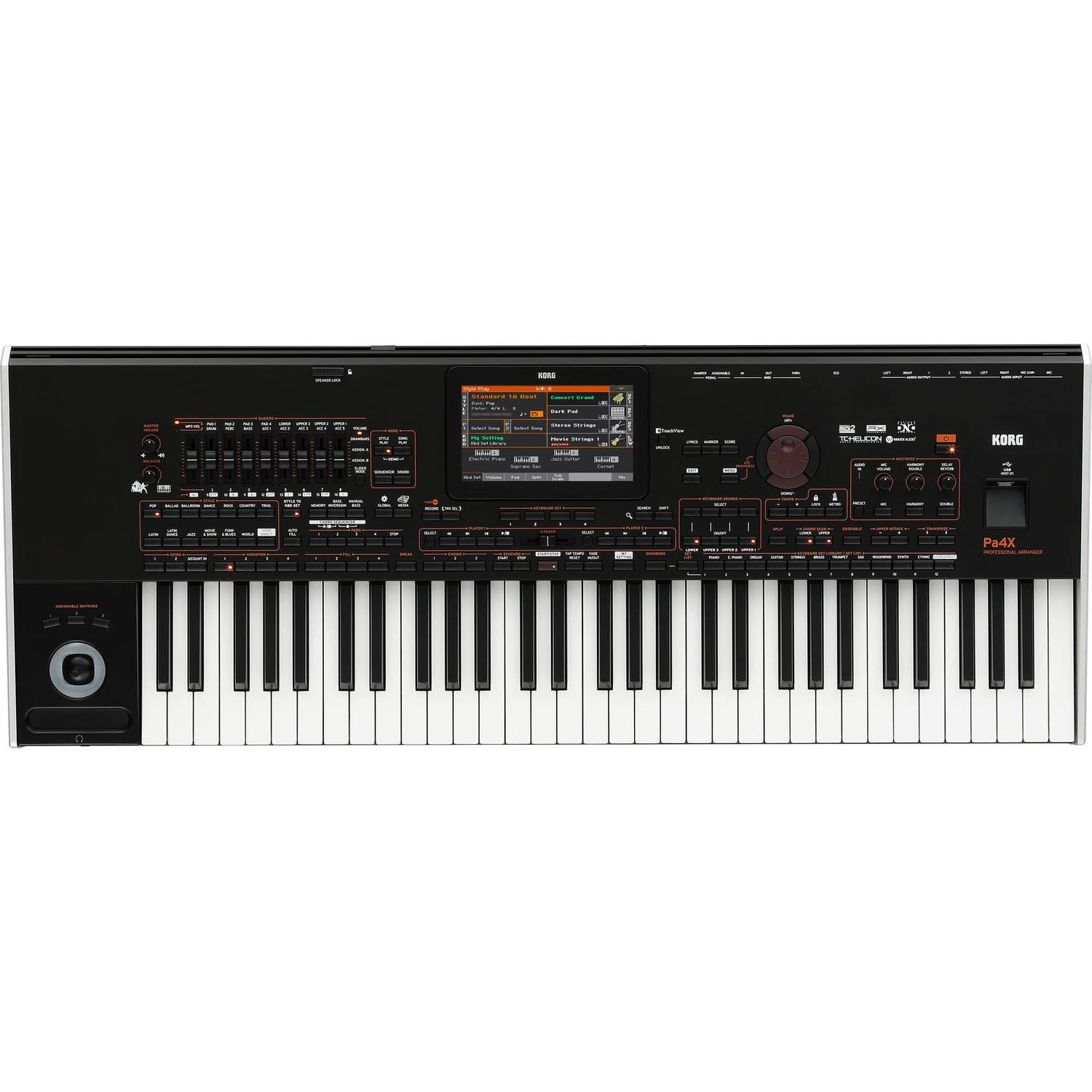 Korg Pa4X Arranger Workstation Keyboard, 61-Key