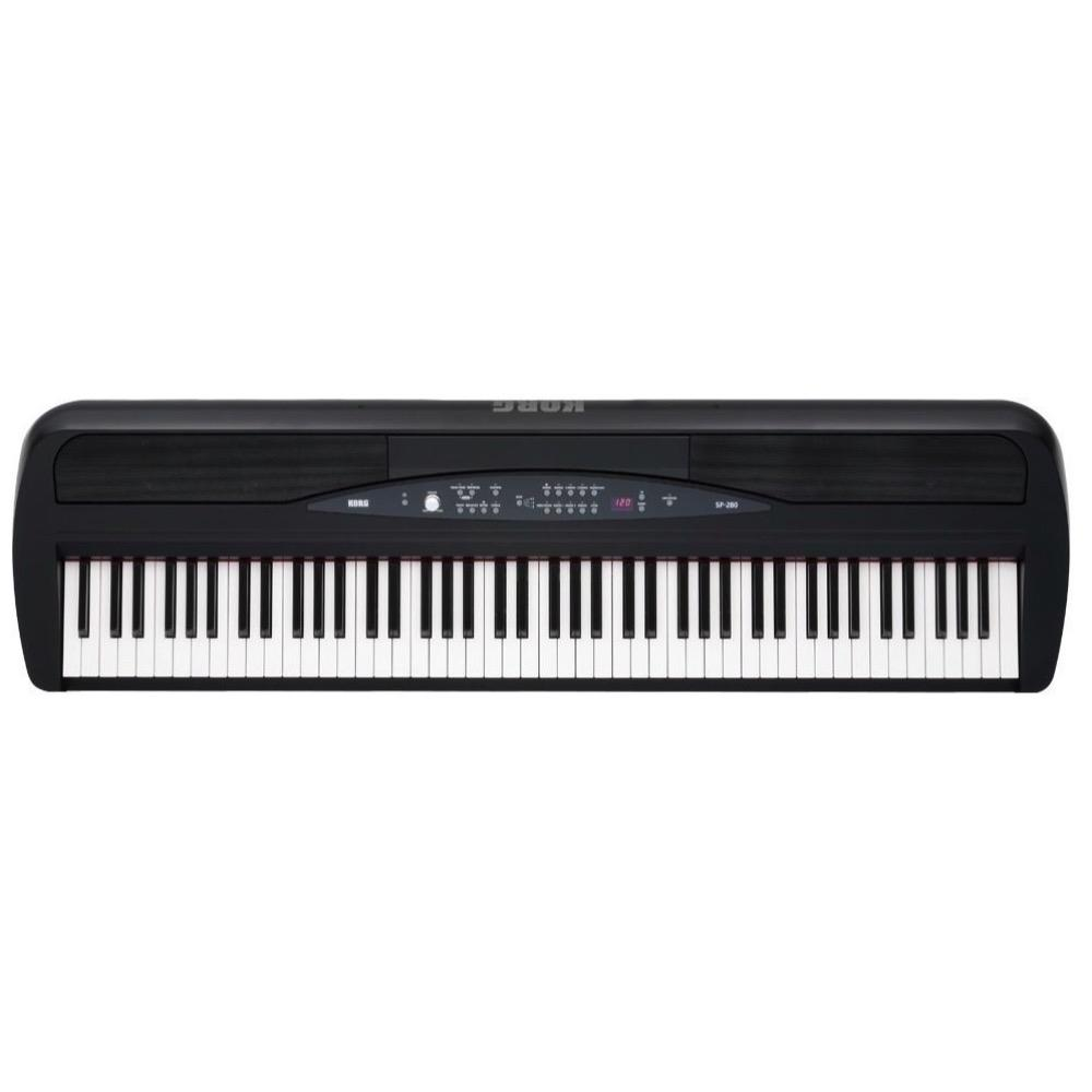 Korg SP-280 Digital Piano with Stand, 88-Key, Black