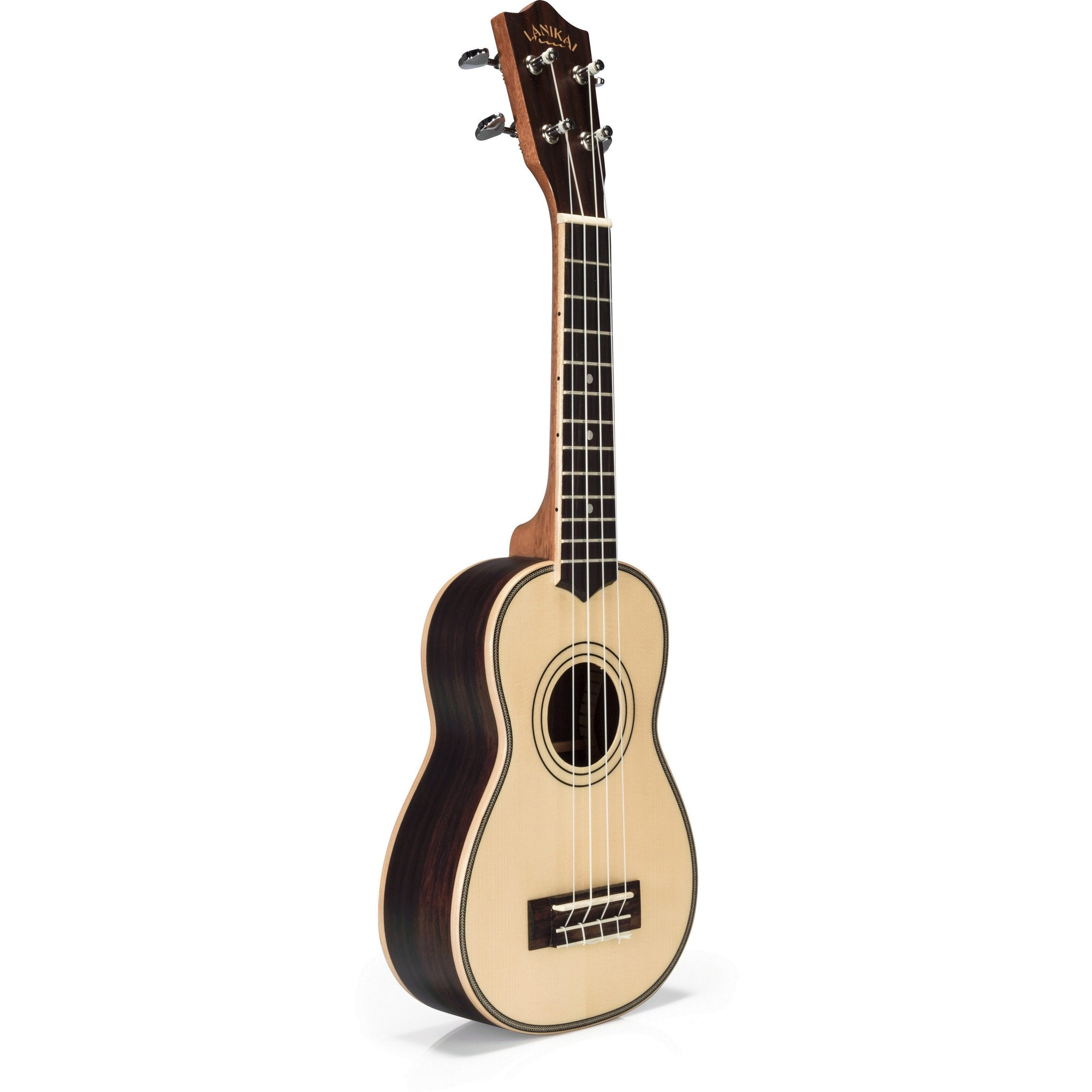 Lanikai Solid Spruce Top Soprano Ukulele (with Gig Bag)