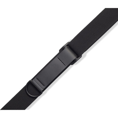 Levy's Right Height Cotton Guitar Strap, Black, MRHC-BLK