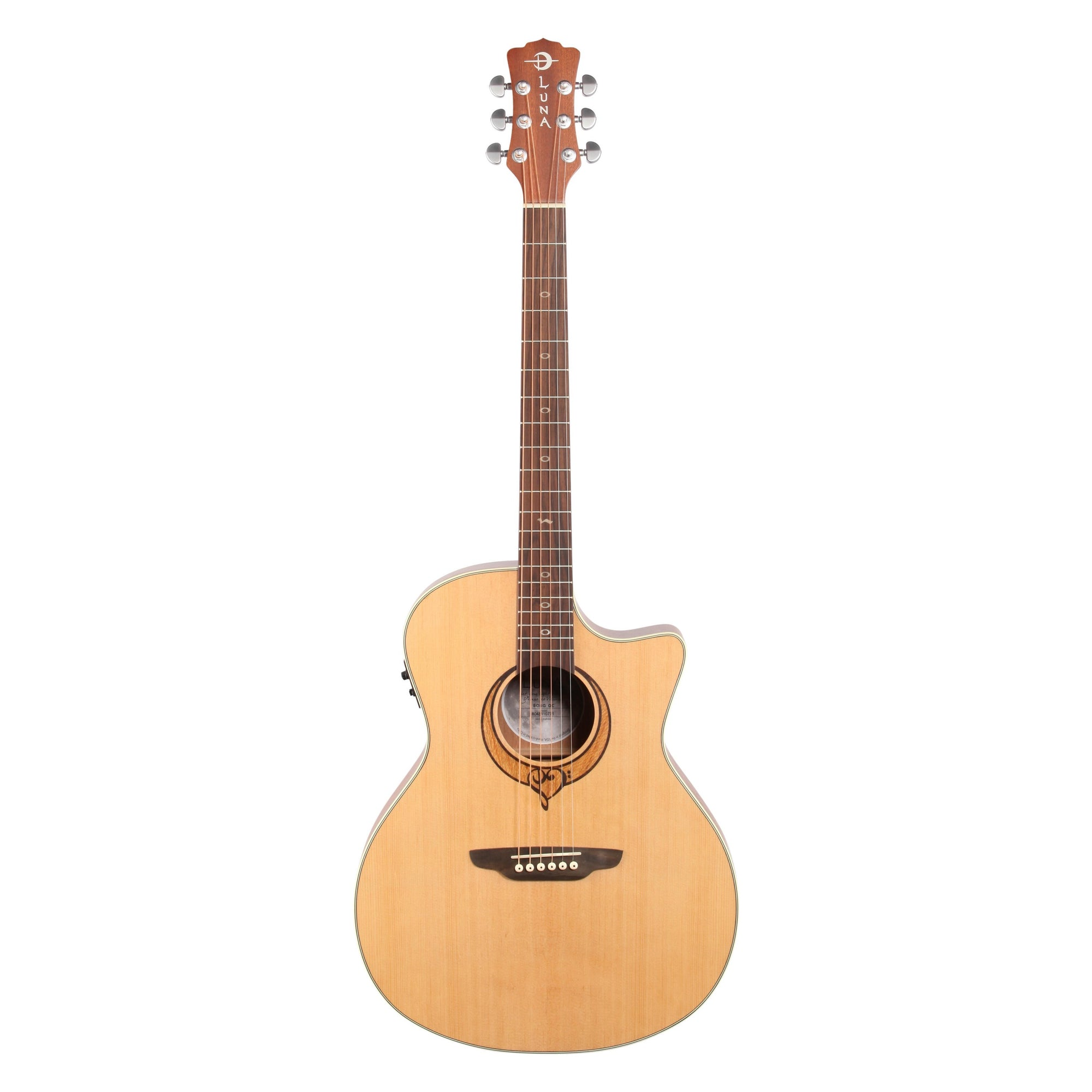 Luna Heartsong Grand Concert Acoustic-Electric Guitar with USB