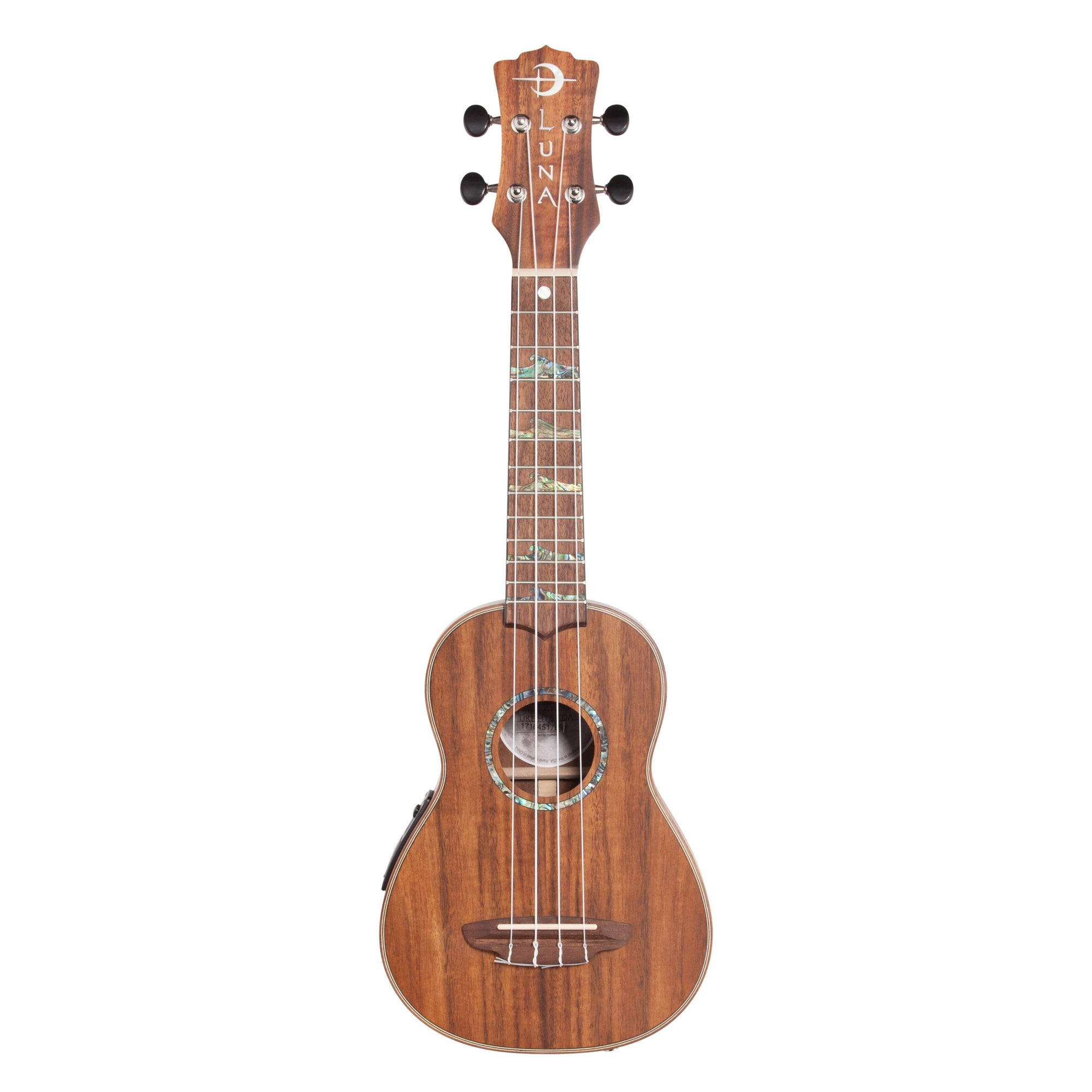 Luna High Tide Soprano Ukulele (with Preamp), Koa