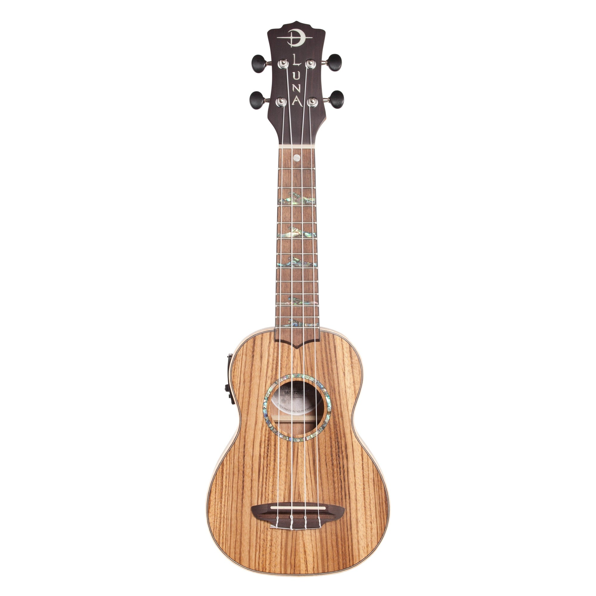 Luna High Tide Zebrawood Soprano Acoustic-Electric Ukulele (with Gig Bag)