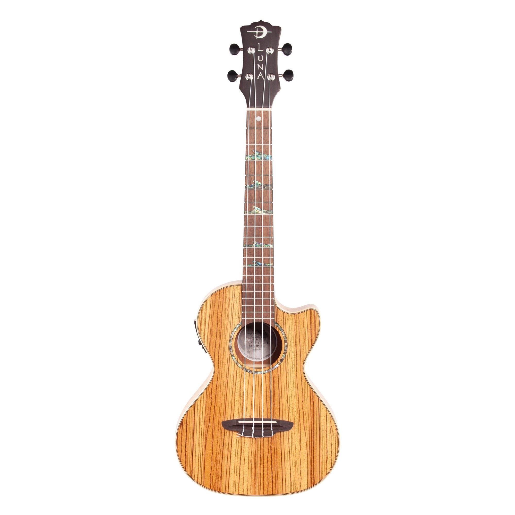 Luna High Tide Zebrawood Tenor Acoustic-Electric Ukulele (with Gig Bag)