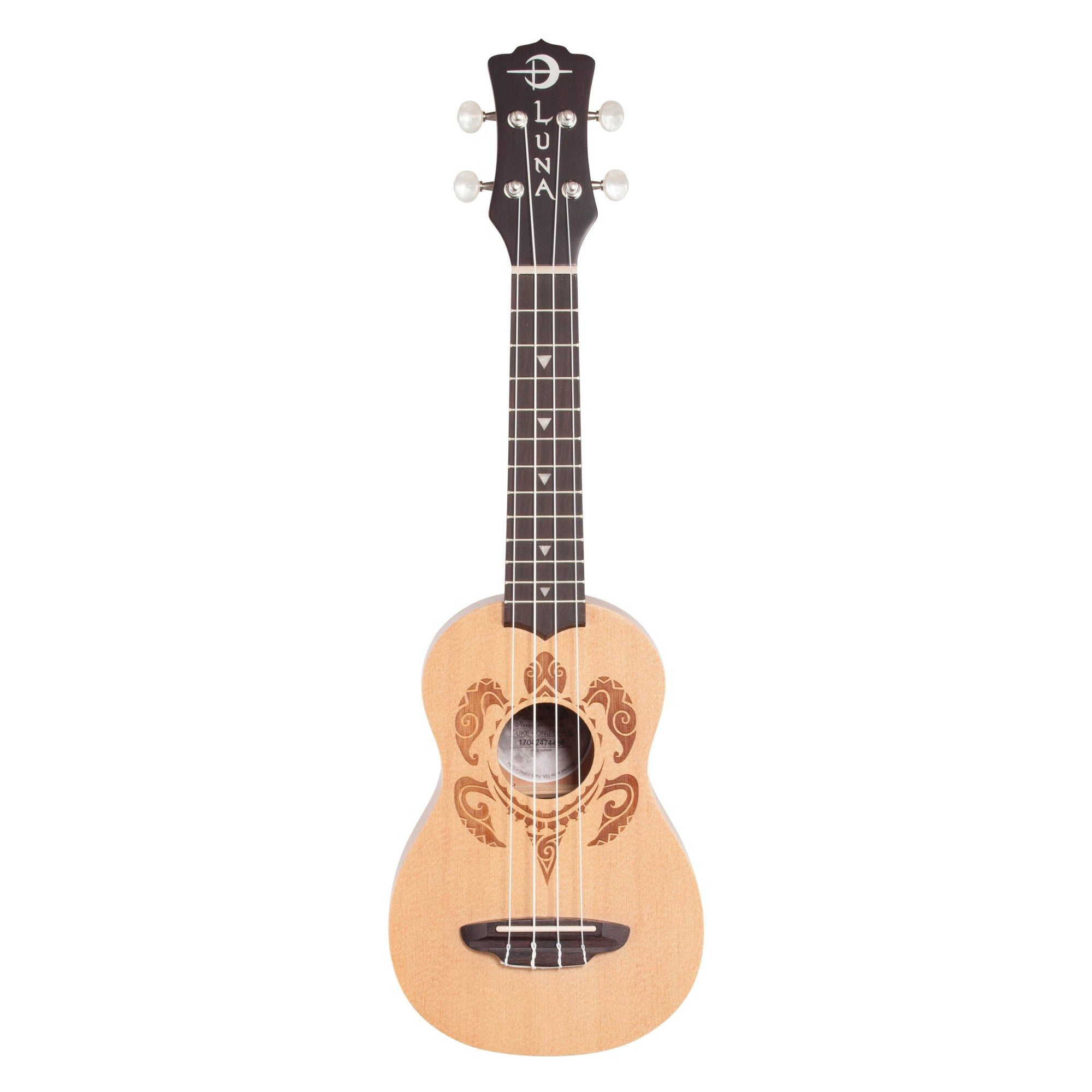 Luna Honu Soprano Ukulele (with Gig Bag), Honu Turtle
