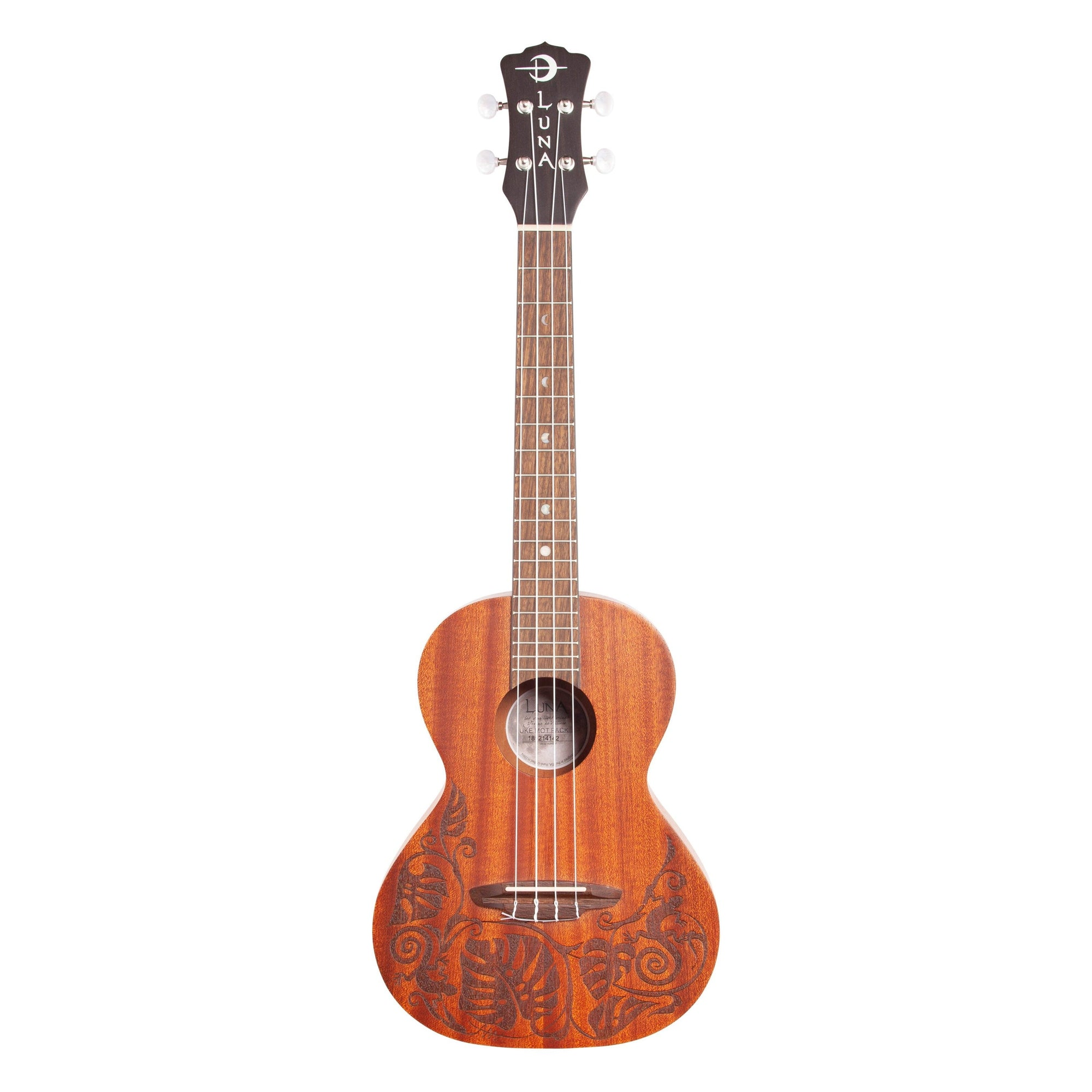 Luna Mahogany Tenor Ukulele Package (with Gig Bag)