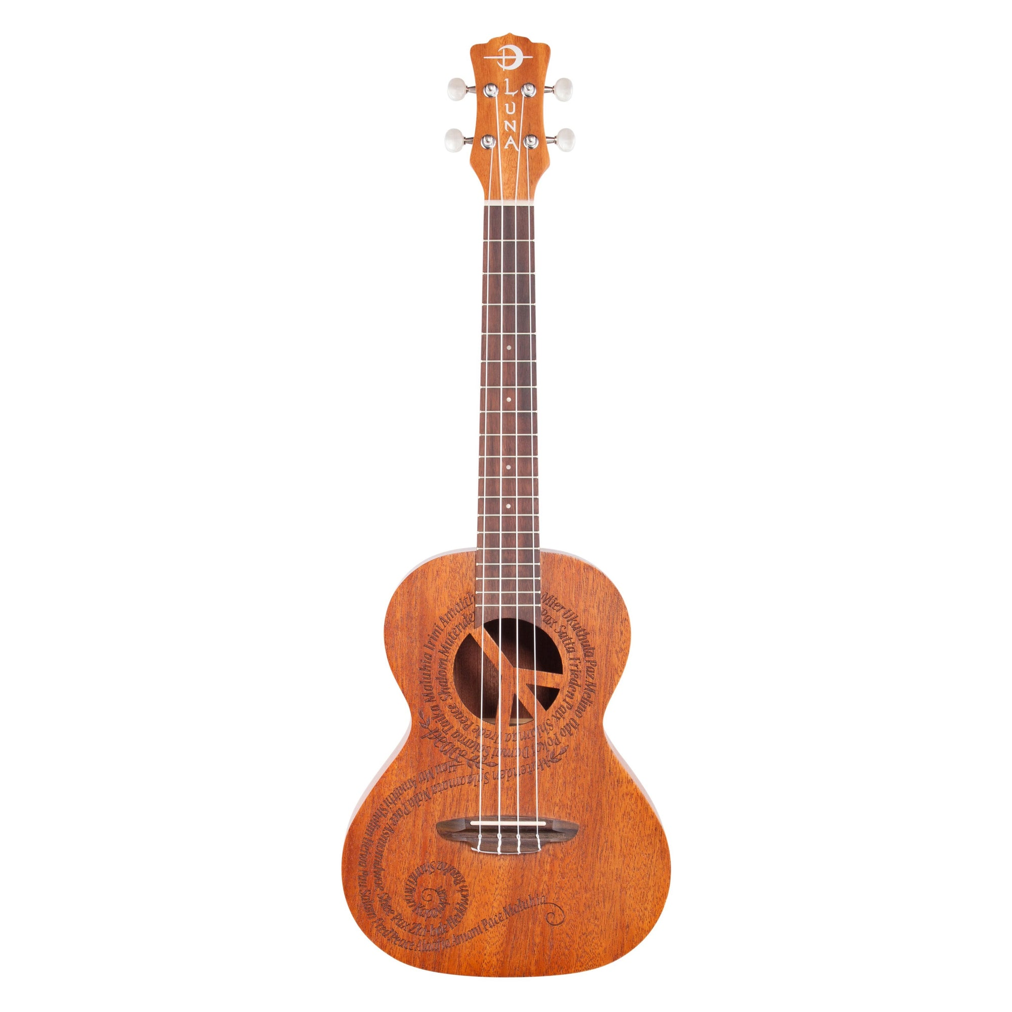 Luna Maluhia Peace Tenor Ukulele (with Gig Bag)