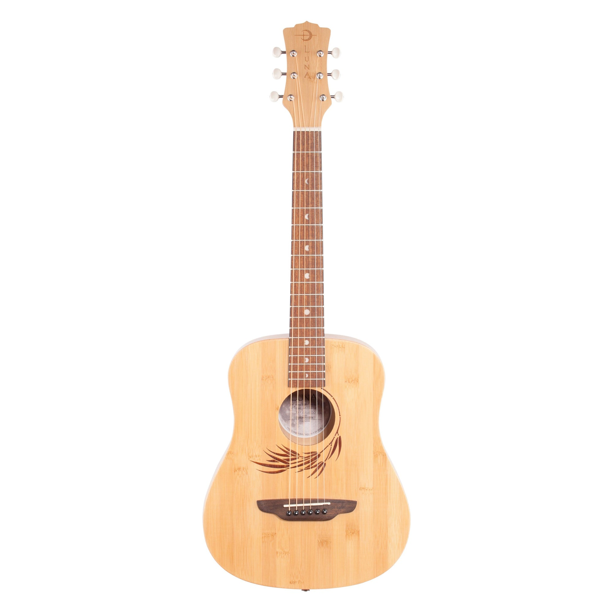 Luna Safari Bamboo Travel Acoustic Guitar (with Gig Bag)