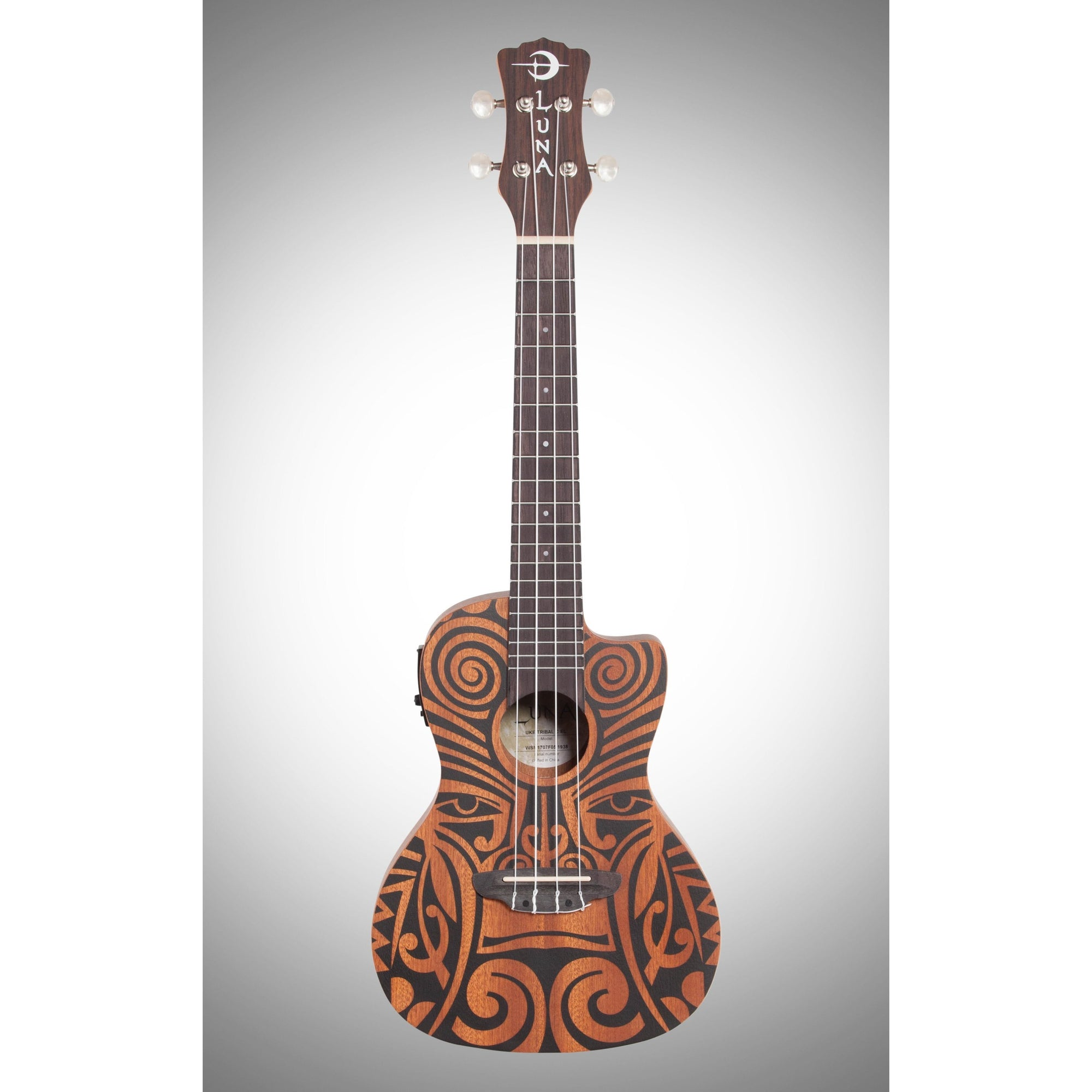 Luna Tribal Mahogany Concert Acoustic-Electric Ukulele (with Preamp)