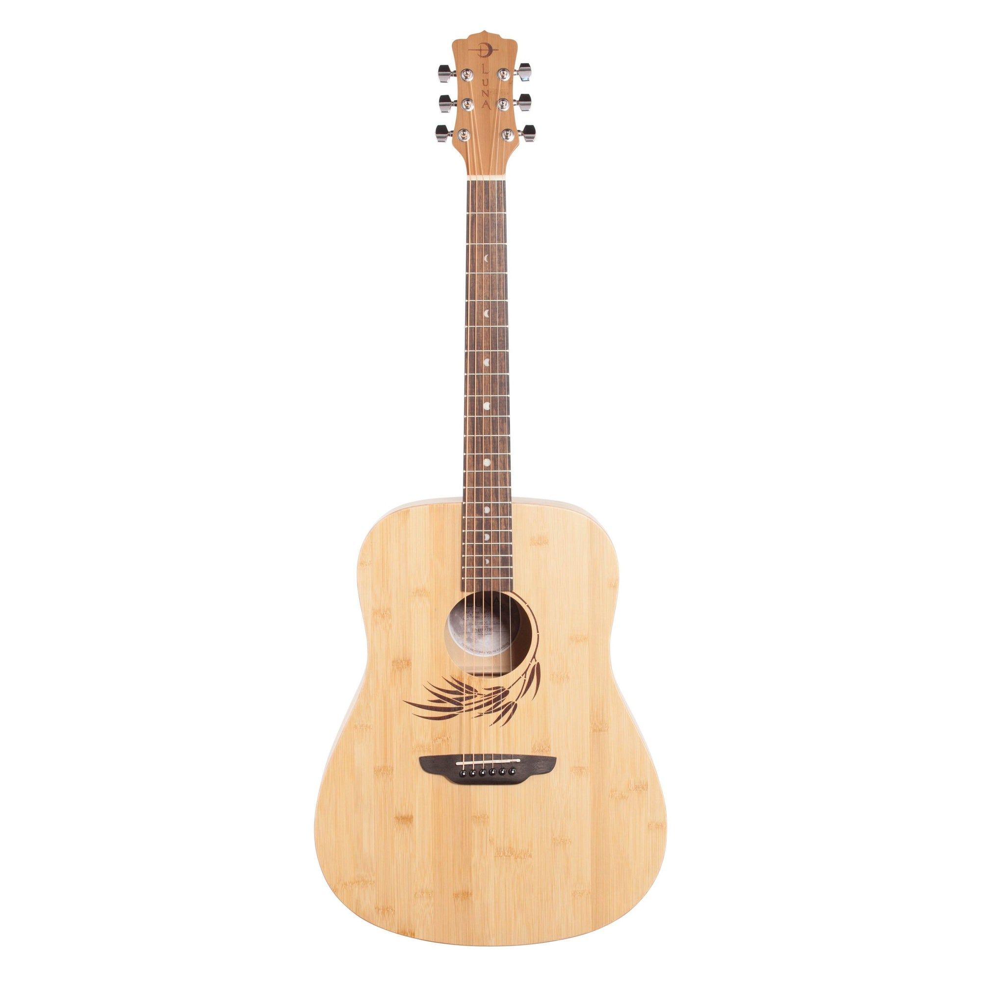 Luna Woodland Bamboo Dreadnought Acoustic Guitar