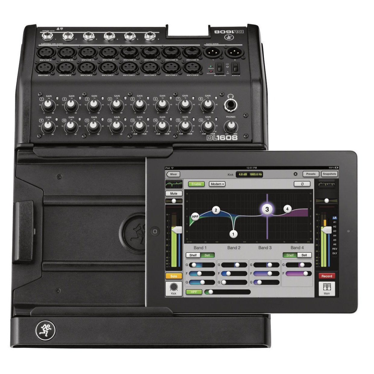 Mackie DL1608 Digital iPad Controlled Mixer, with Lightning Connector (8-Bus)