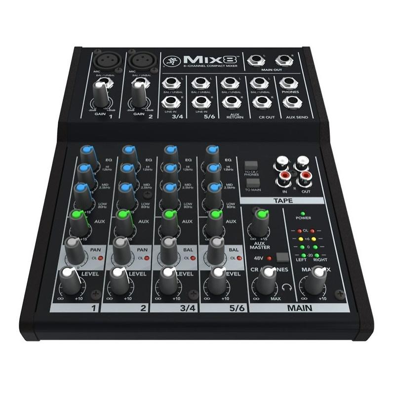 Mackie Mix8 Compact Mixer, 8-Channel