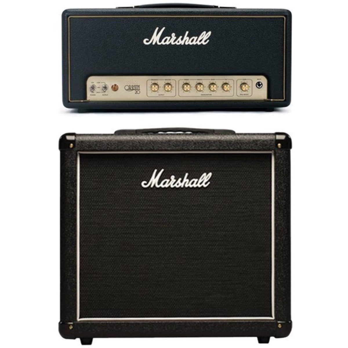 Marshall Origin 20H Guitar Amplifier Head (20 Watts), with Marshall MX112R Guitar Speaker Cabinet
