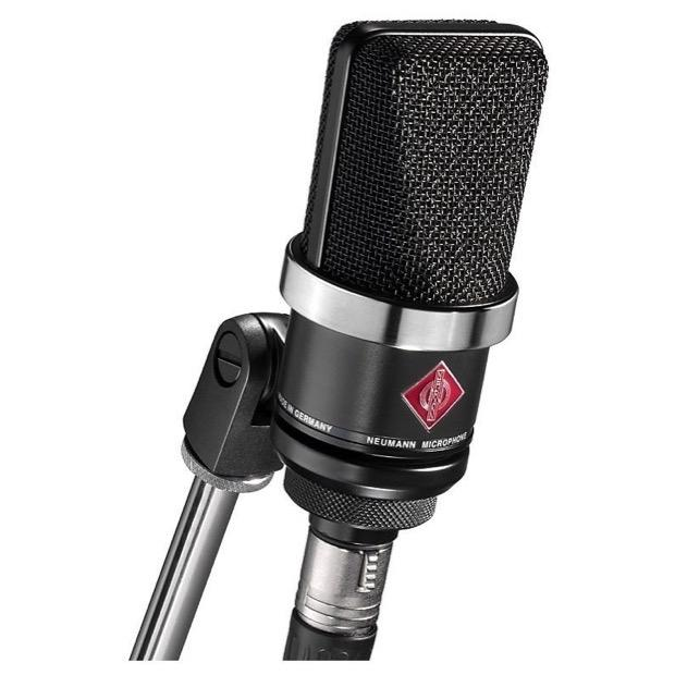 Neumann TLM 102 Studio Microphone, Black, with Standmount