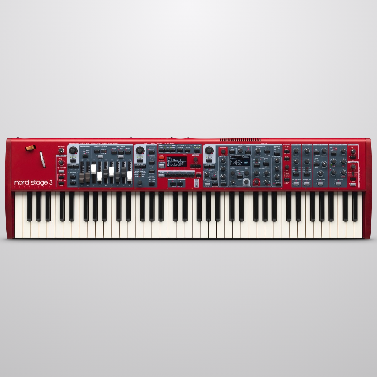 Nord Stage 3 Compact Semi-Weighted Synthesizer Keyboard, 73-Key